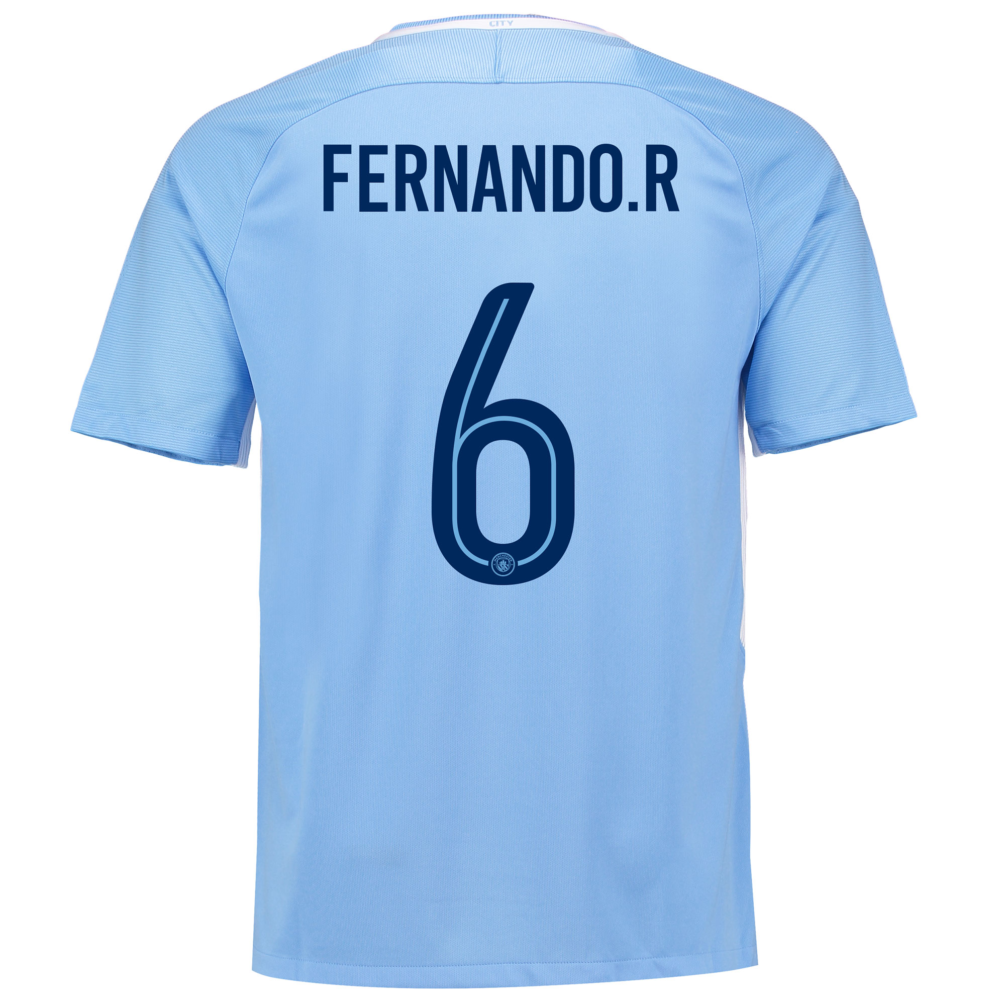Manchester City Home Stadium Cup Shirt 2017-18 with Fernando. R 6 prin