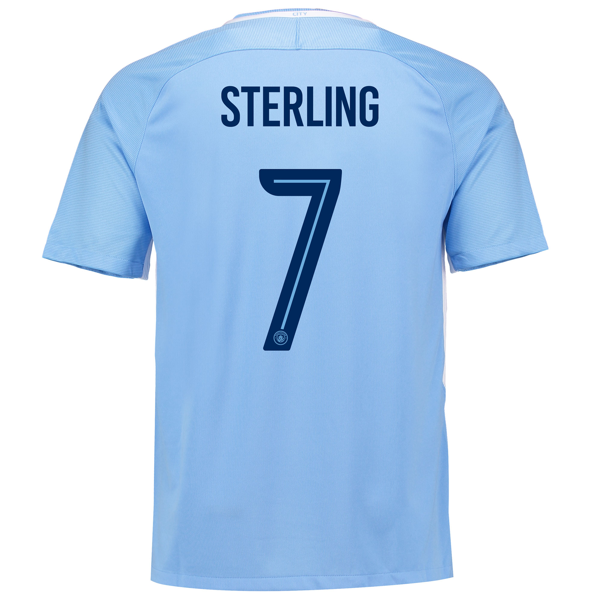 Manchester City Home Stadium Cup Shirt 2017-18 with Sterling 7 printin