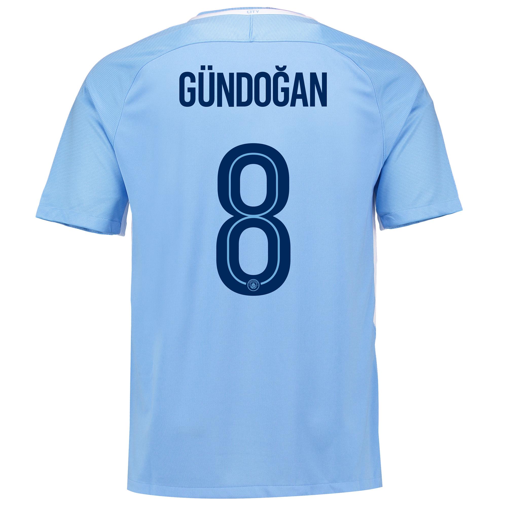 Manchester City Home Stadium Cup Shirt 2017-18 with Gündogan 8 printin