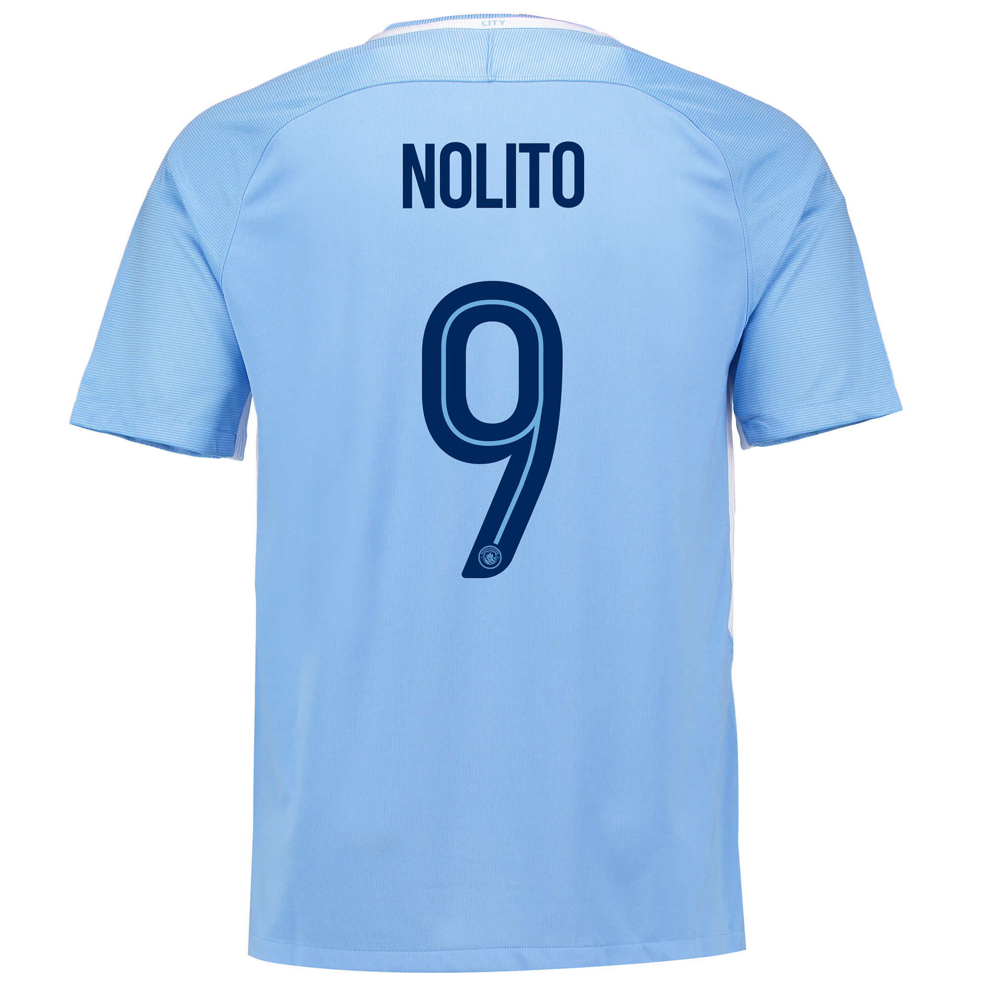 Manchester City Home Stadium Cup Shirt 2017-18 with Nolito 9 printing