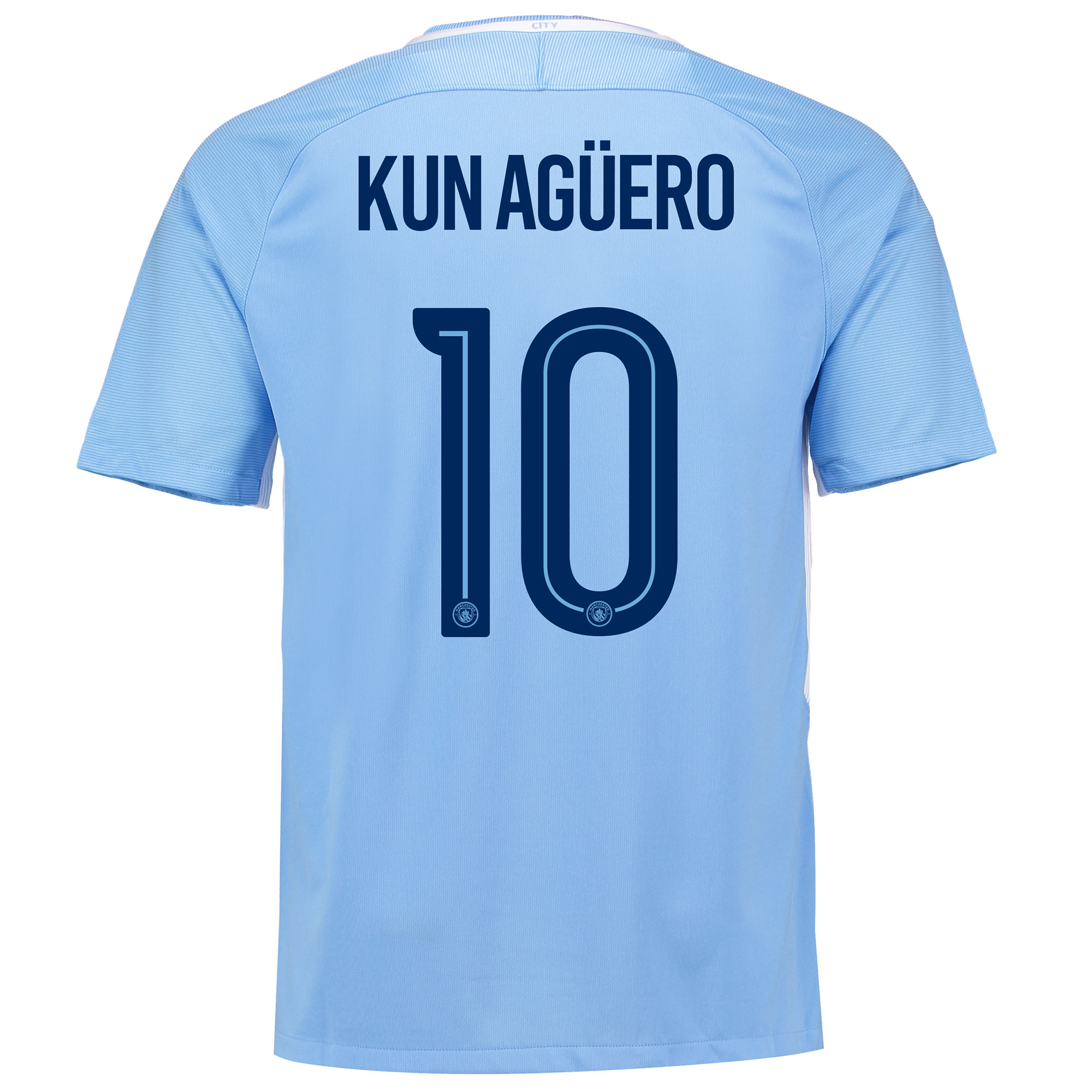 Manchester City Home Stadium Cup Shirt 2017-18 with Kun Ag??ero  10 pri