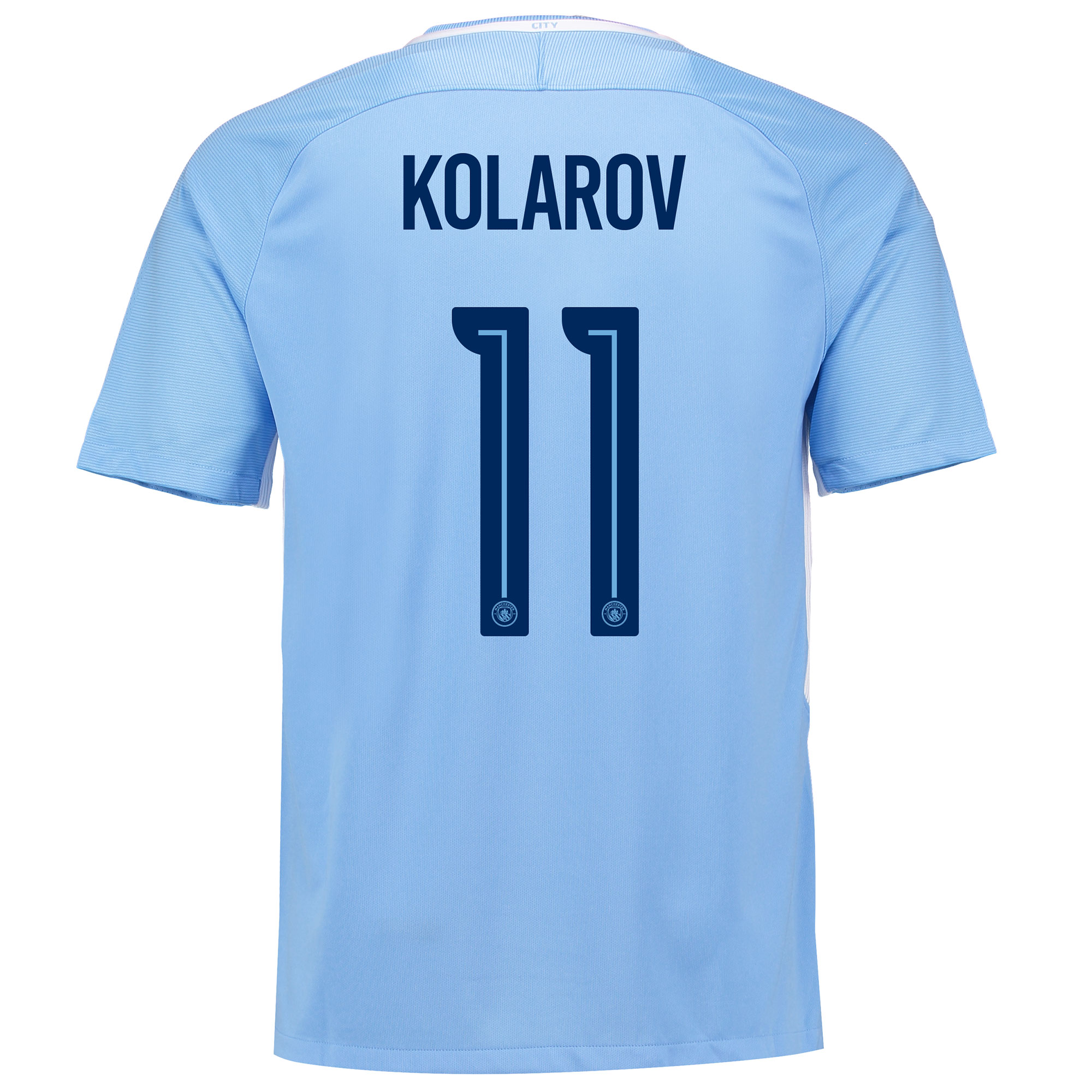 Manchester City Home Stadium Cup Shirt 2017-18 with Kolarov 11 printin