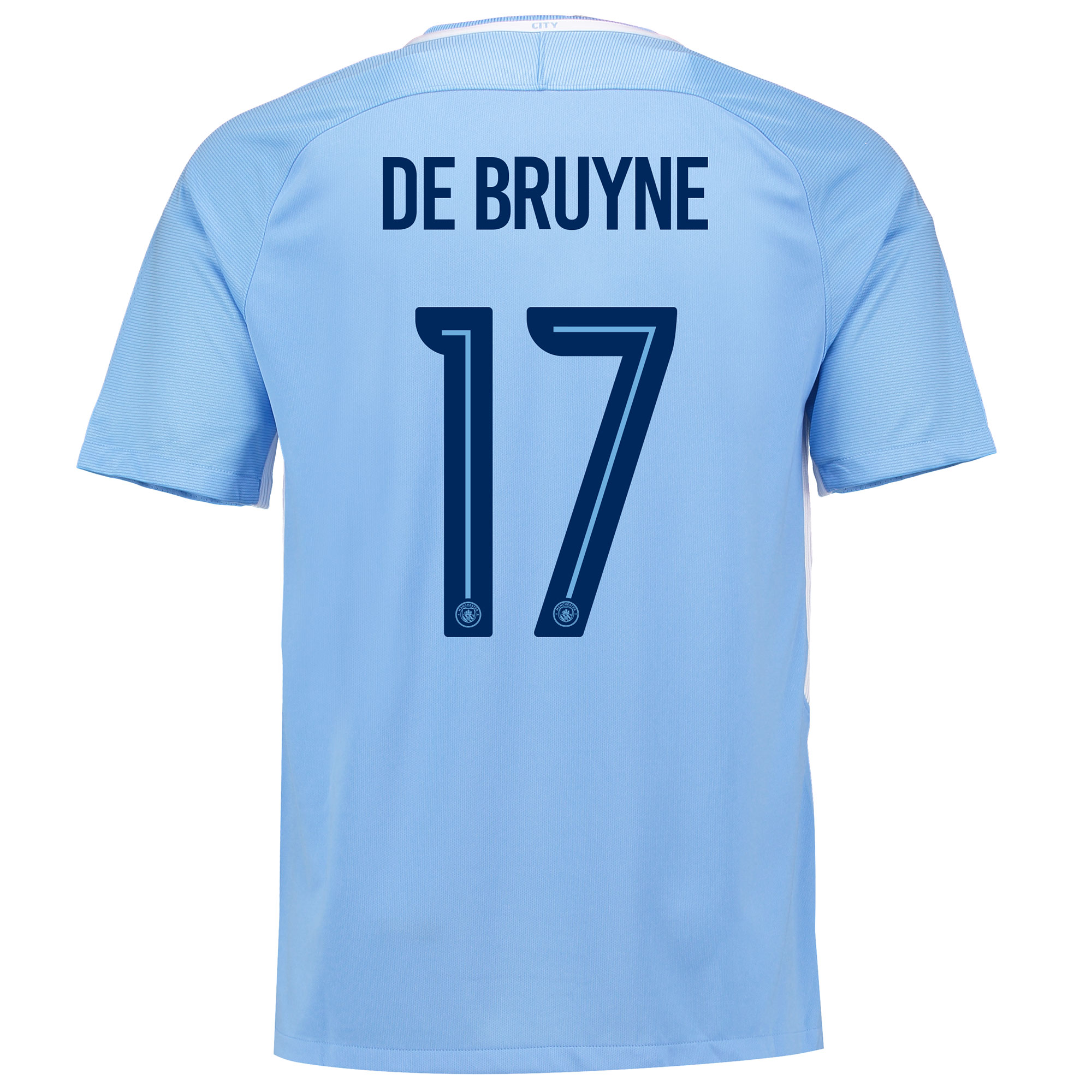 Manchester City Home Stadium Cup Shirt 2017-18 with De Bruyne 17 print