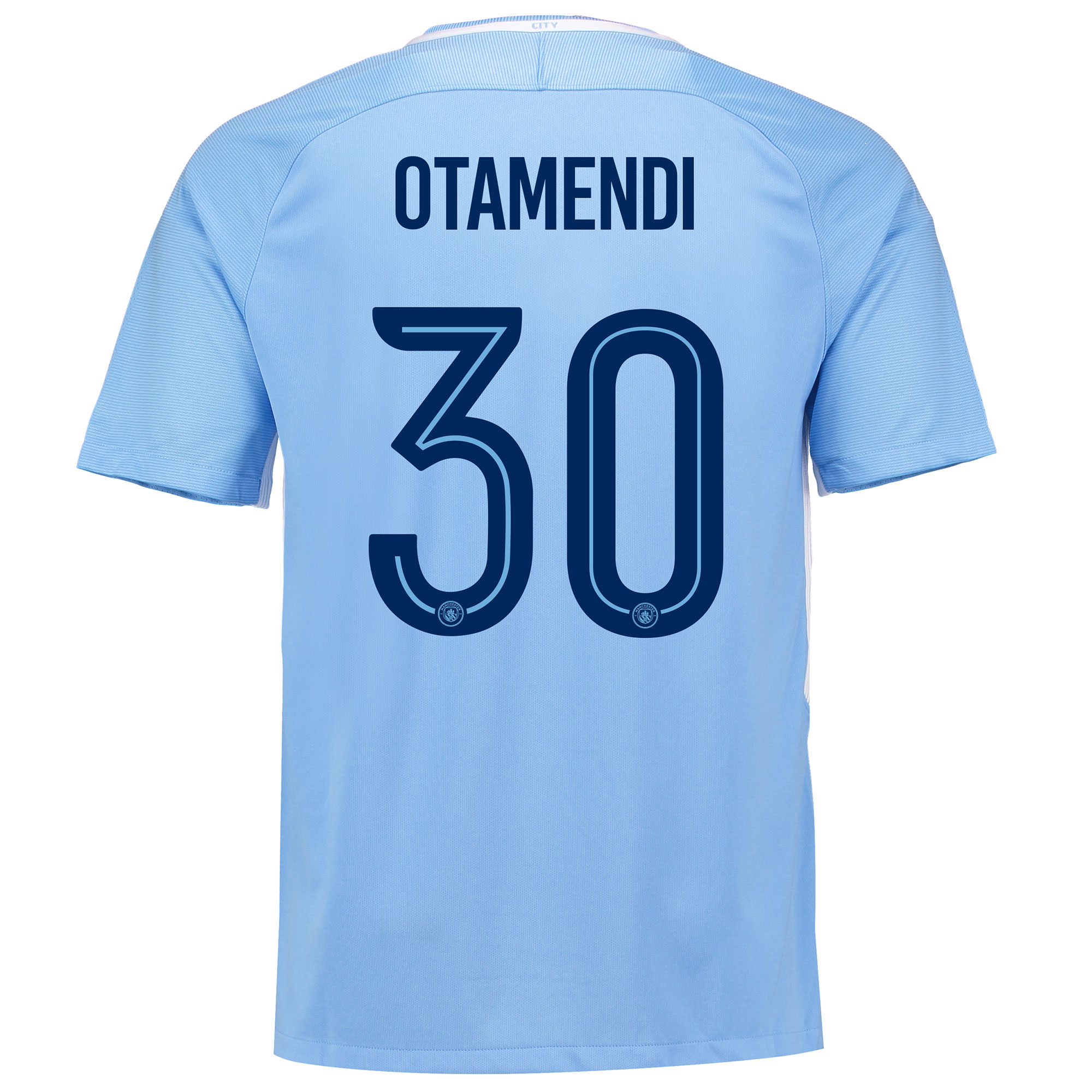 Manchester City Home Stadium Cup Shirt 2017-18 with Otamendi 30 printi
