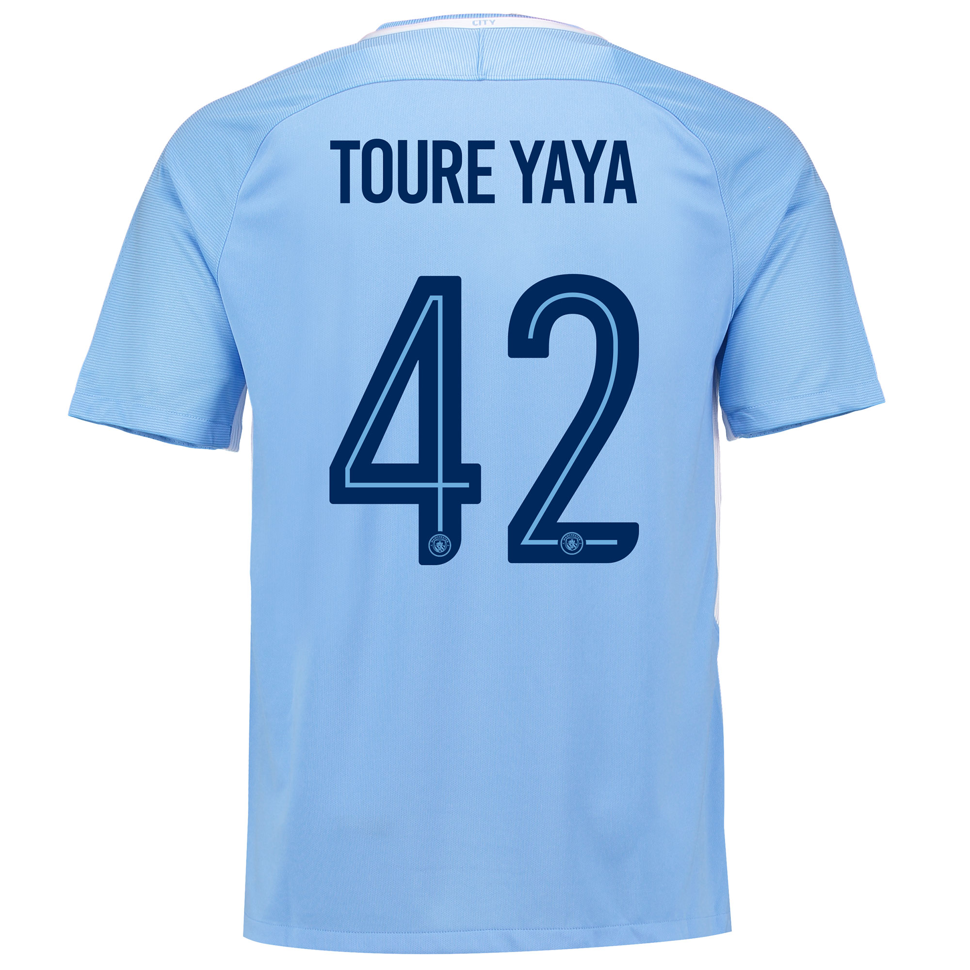 Manchester City Home Stadium Cup Shirt 2017-18 with Toure Yaya 42 prin