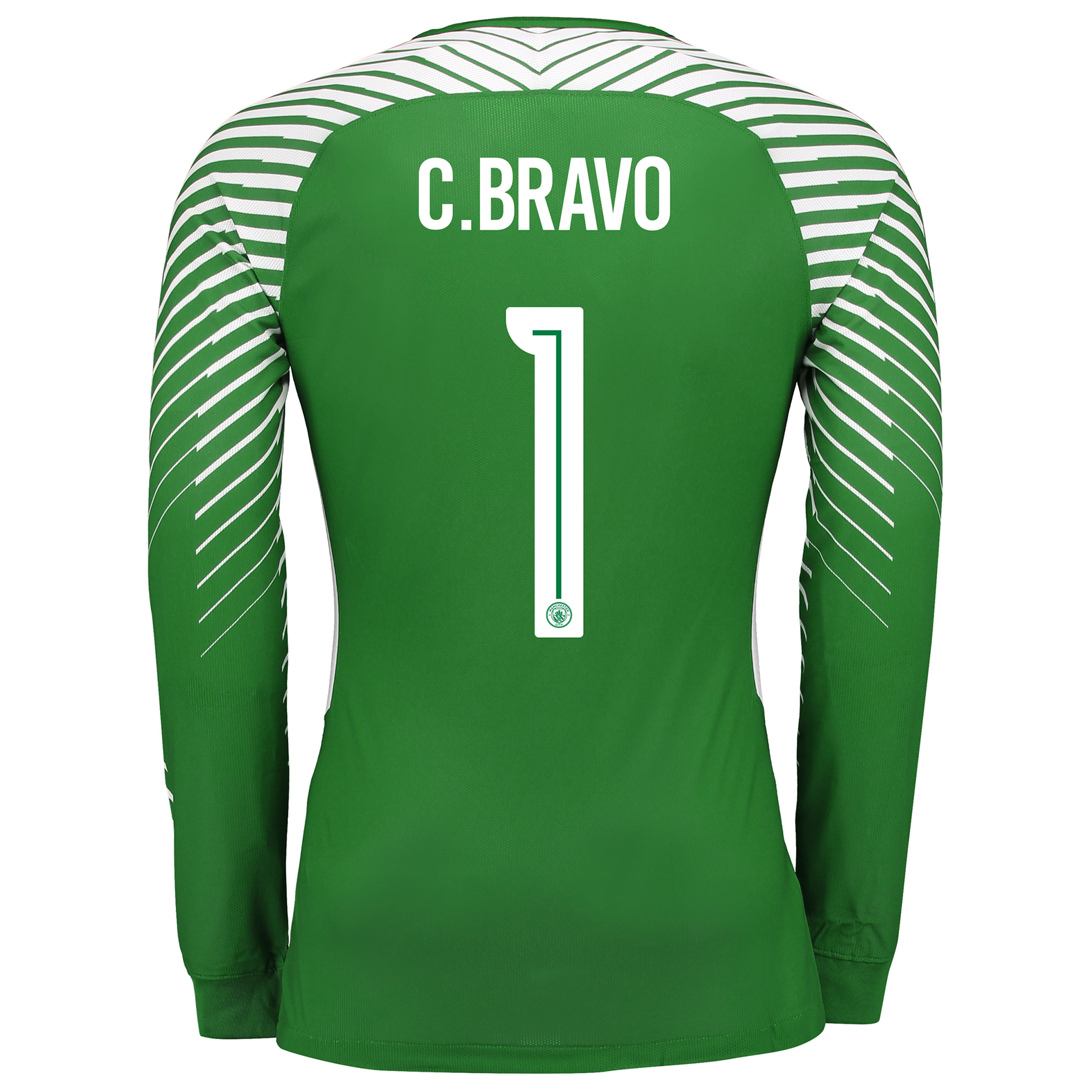 Manchester City Goalkeeper Cup Shirt 2017-18 with C.Bravo 1 printing