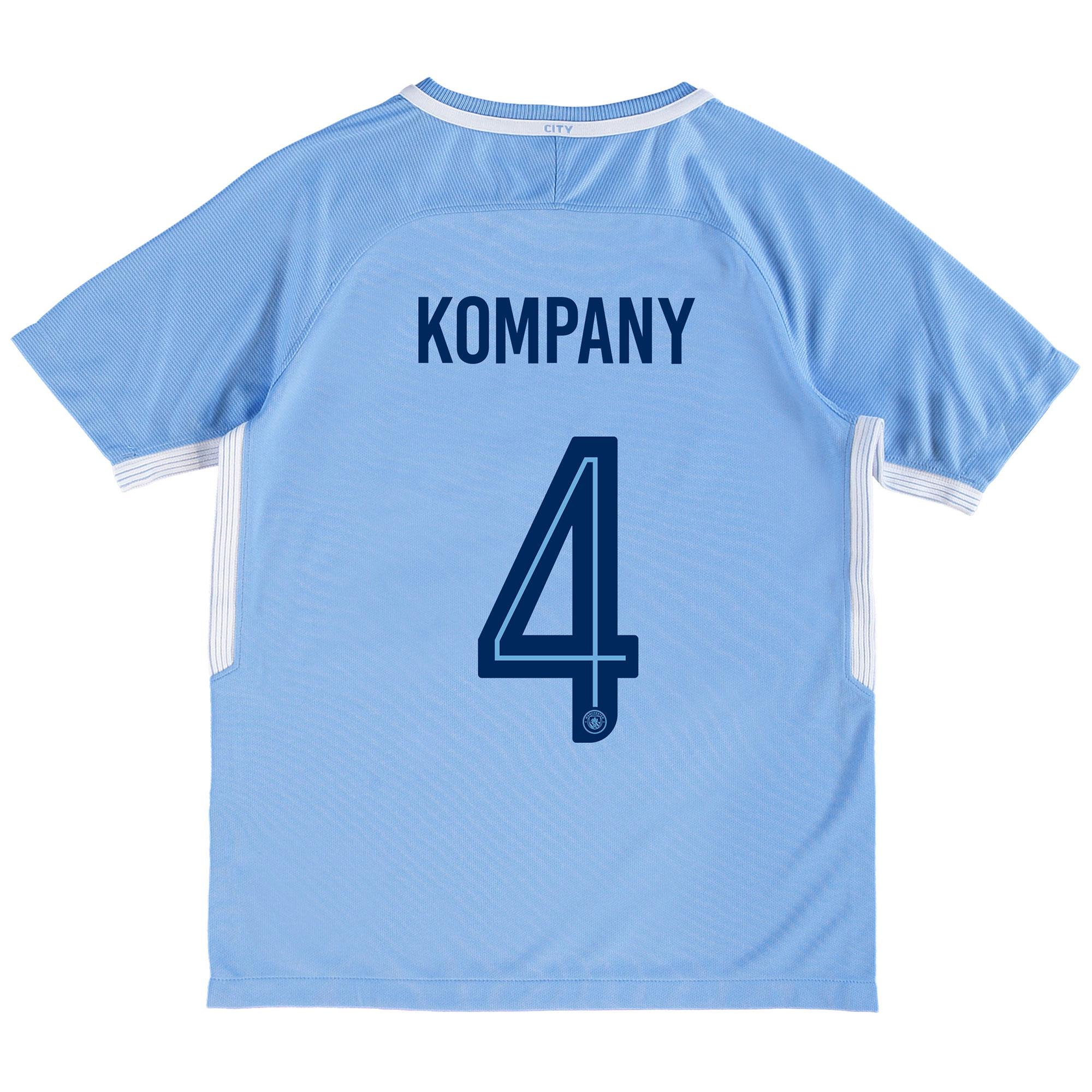 Manchester City Home Stadium Cup Shirt 2017-18 - Kids with Kompany 4 p