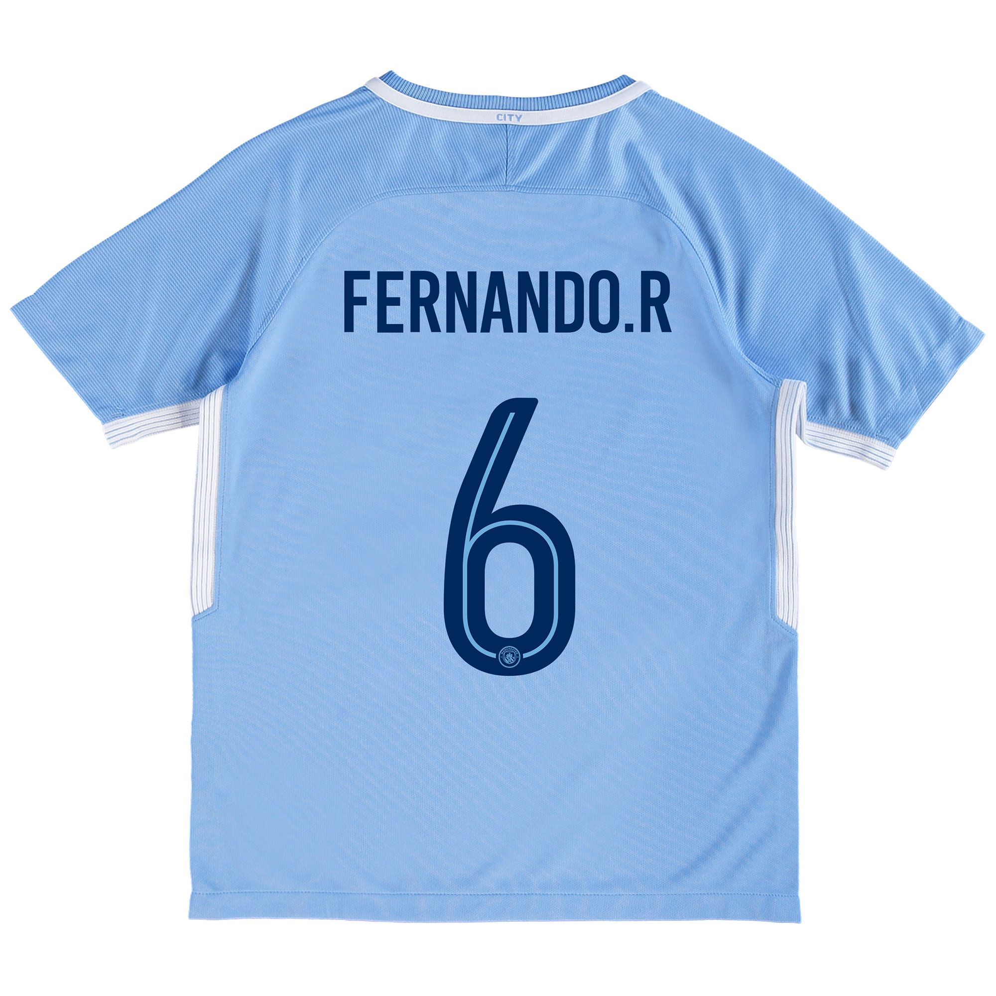 Manchester City Home Stadium Cup Shirt 2017-18 - Kids with Fernando. R