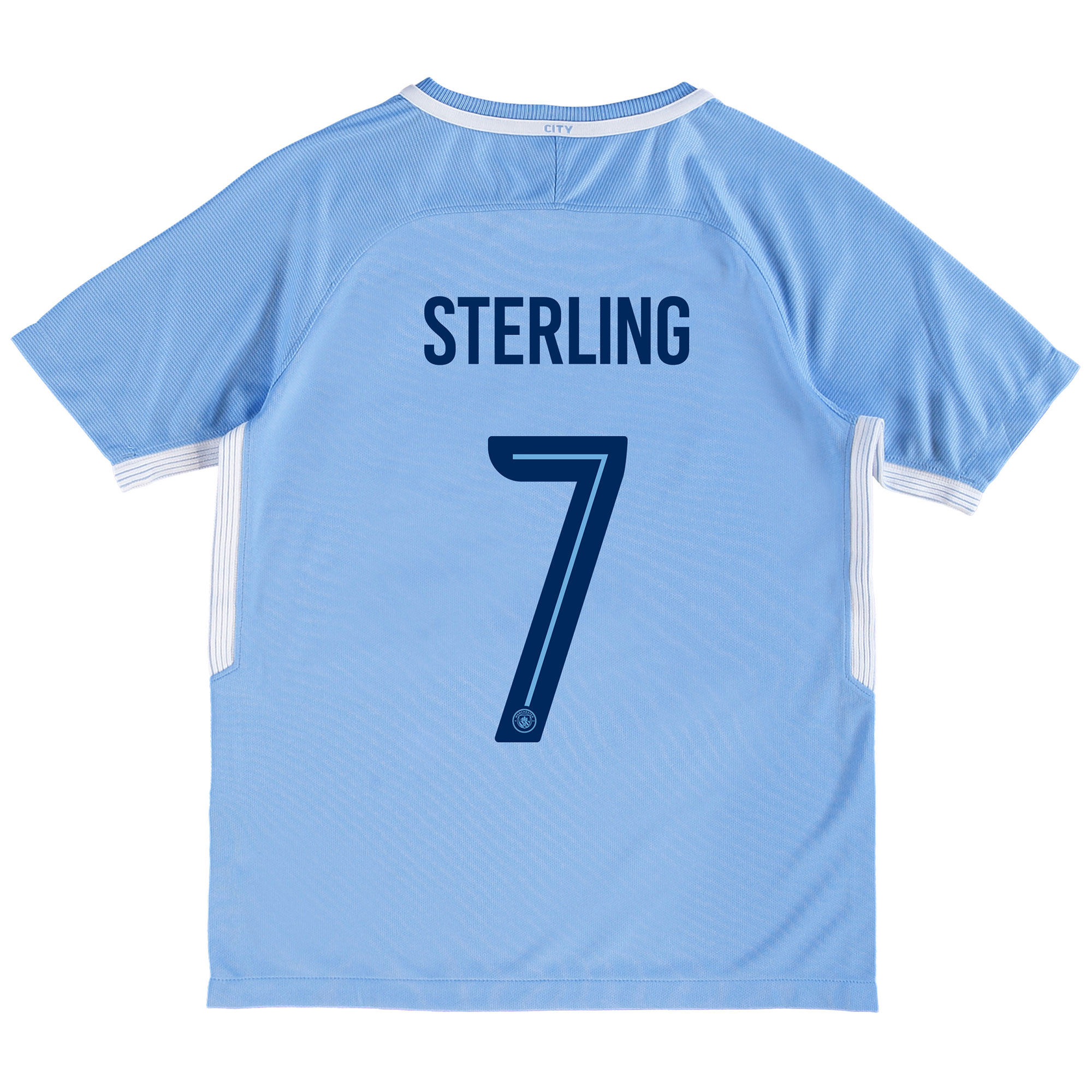 Manchester City Home Stadium Cup Shirt 2017-18 - Kids with Sterling 7