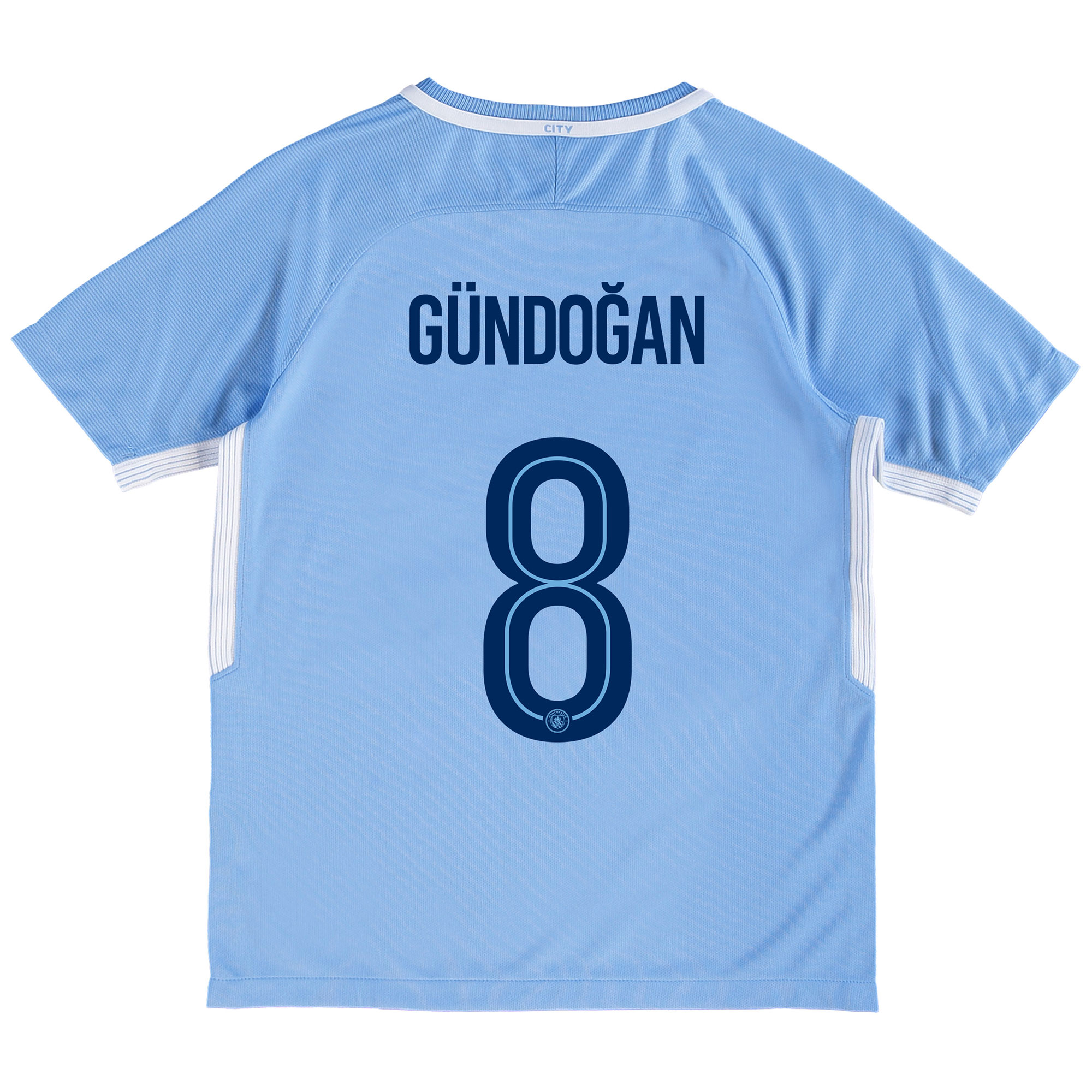 Manchester City Home Stadium Cup Shirt 2017-18 - Kids with G??ndogan 8