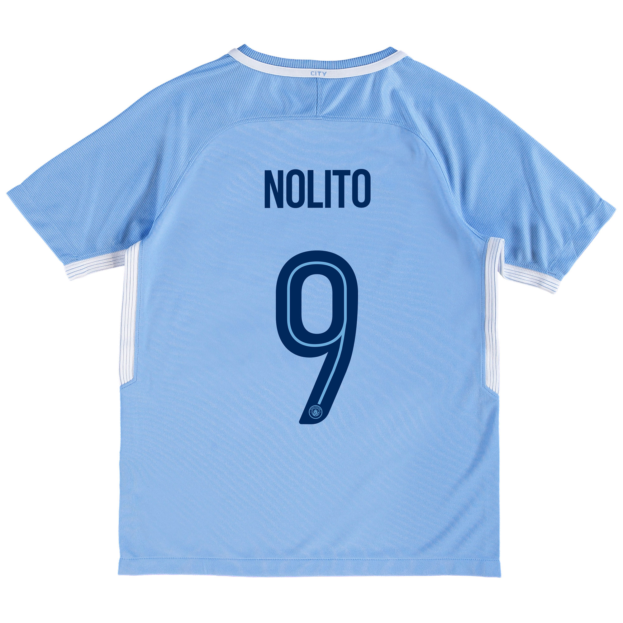 Manchester City Home Stadium Cup Shirt 2017-18 - Kids with Nolito 9 pr