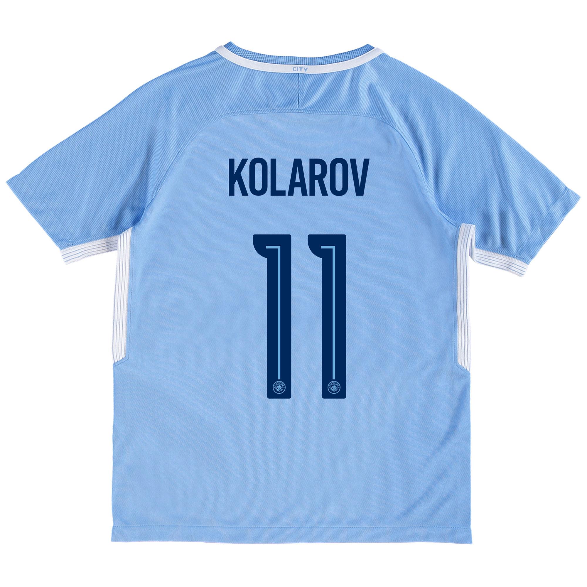 Manchester City Home Stadium Cup Shirt 2017-18 - Kids with Kolarov 11