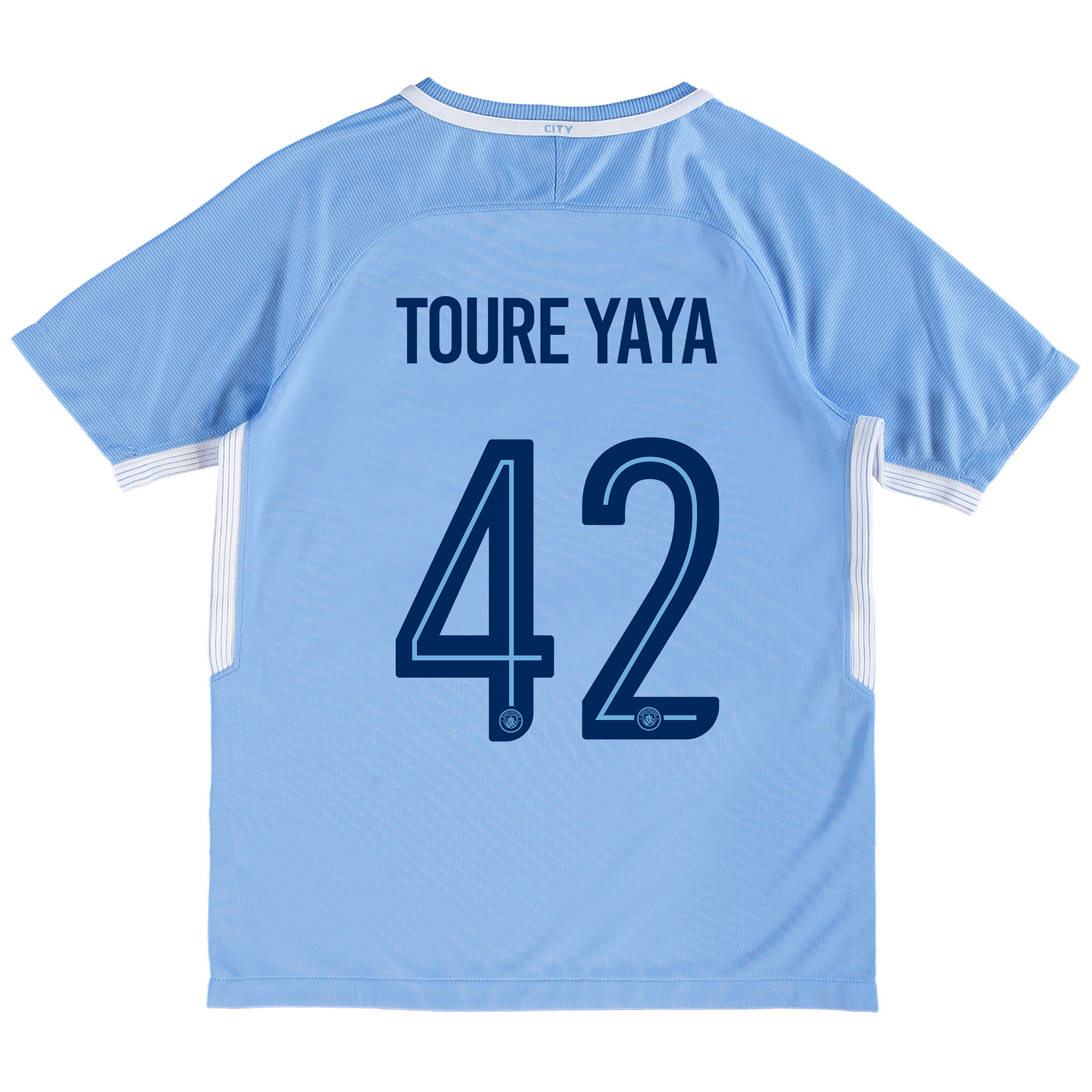 Manchester City Home Stadium Cup Shirt 2017-18 - Kids with Toure Yaya
