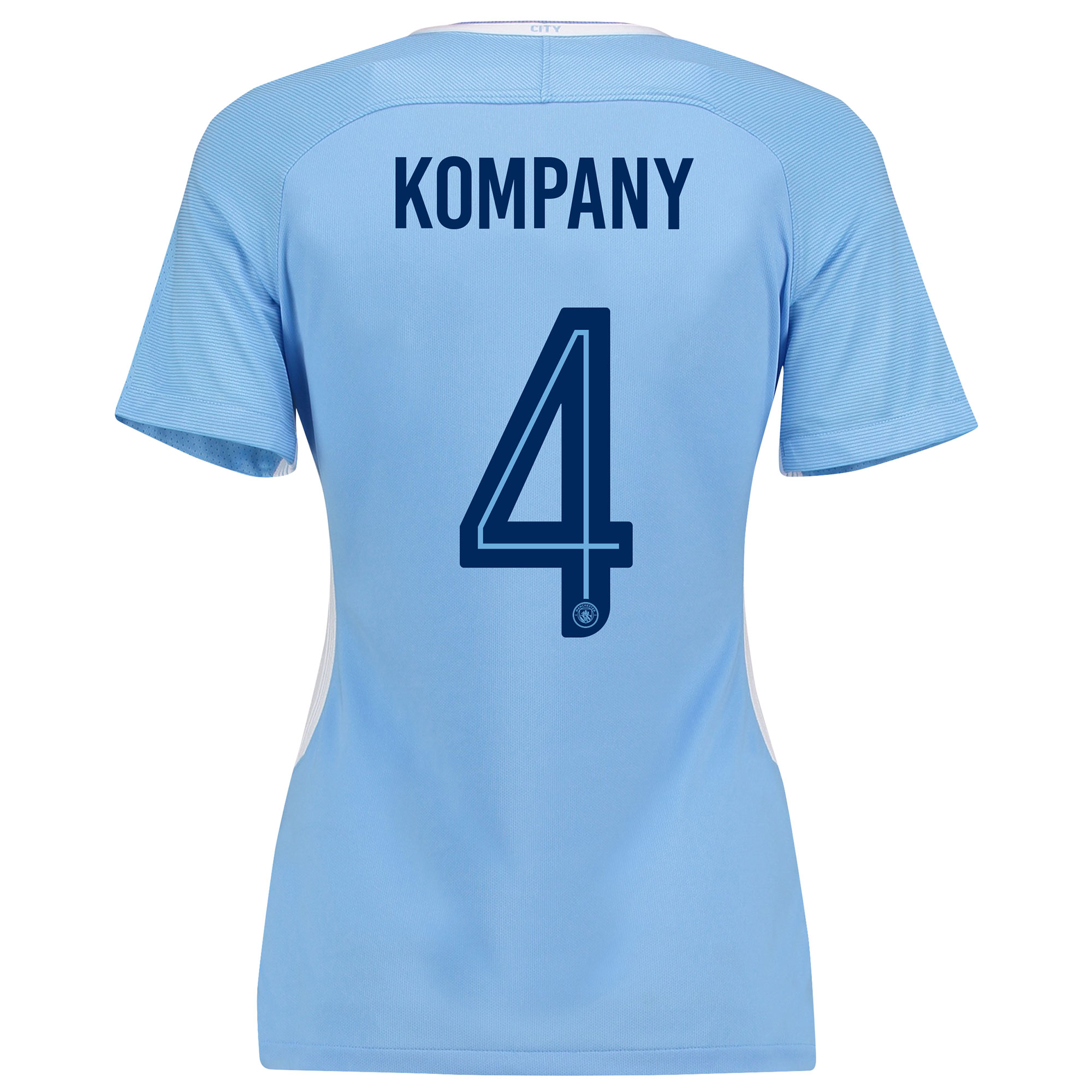 Manchester City Home Stadium Cup Shirt 2017-18 - Womens with Kompany 4
