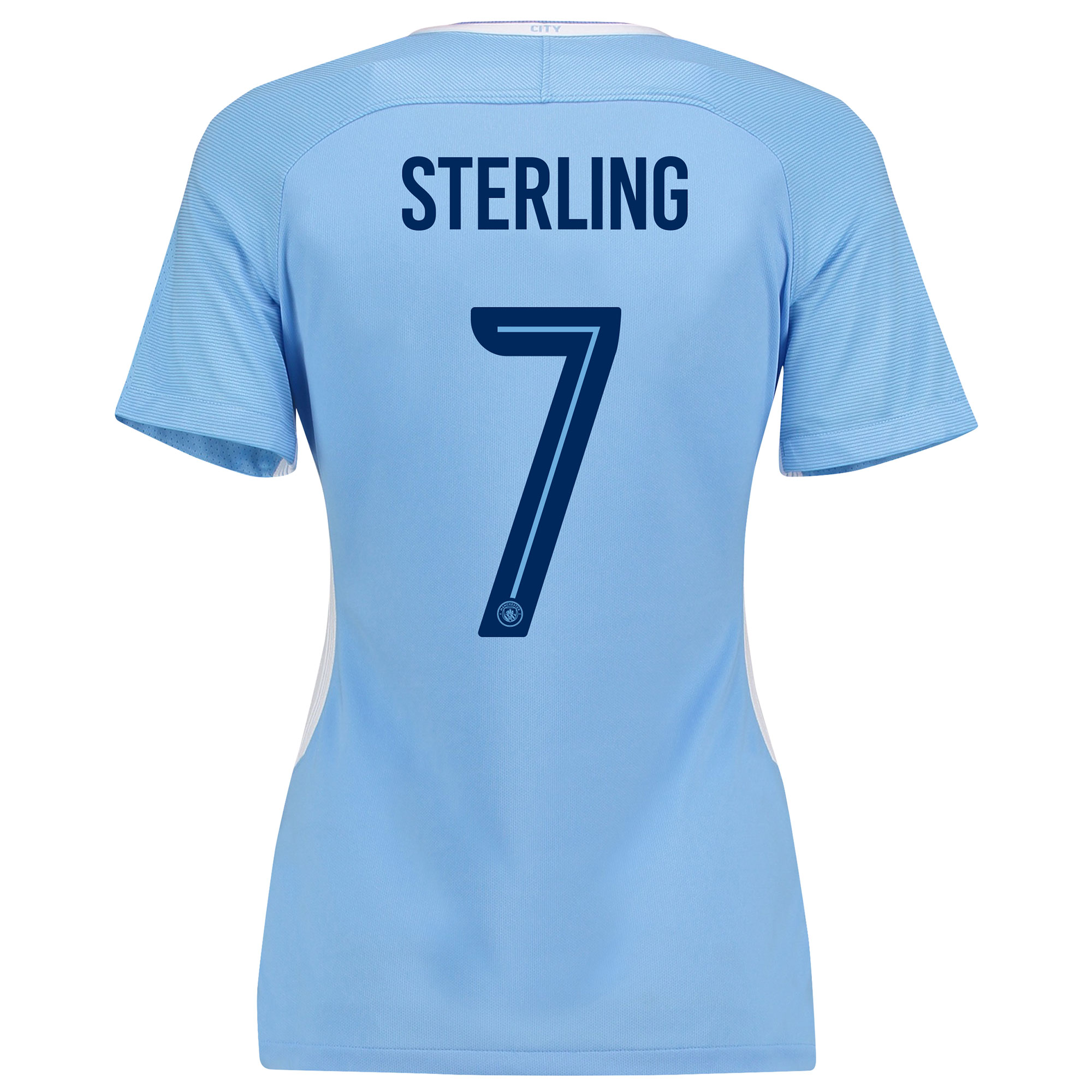 Manchester City Home Stadium Cup Shirt 2017-18 - Womens with Sterling
