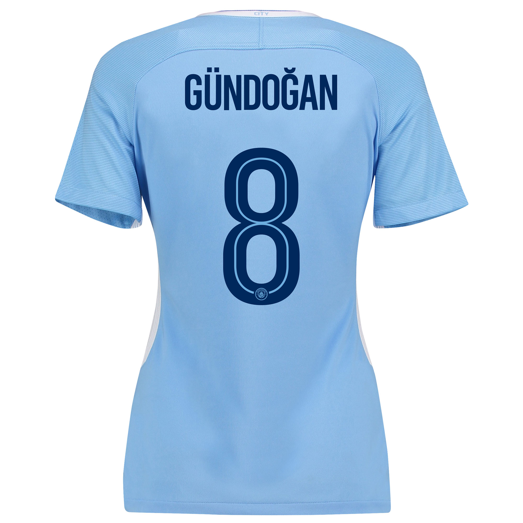 Manchester City Home Stadium Cup Shirt 2017-18 - Womens with G??ndogan
