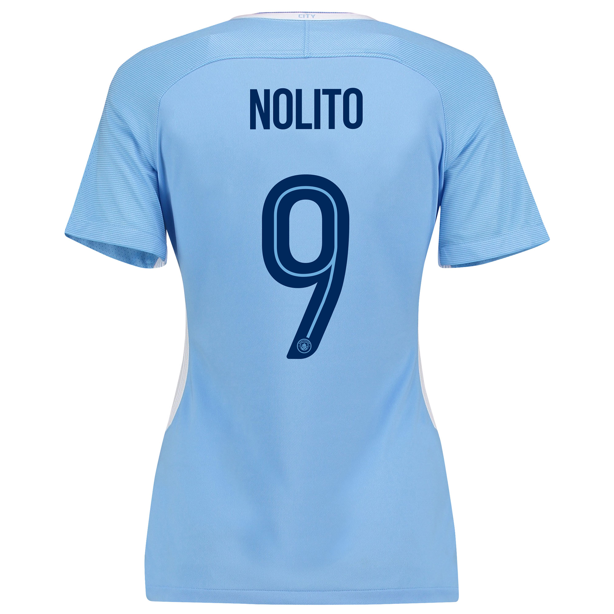 Manchester City Home Stadium Cup Shirt 2017-18 - Womens with Nolito 9