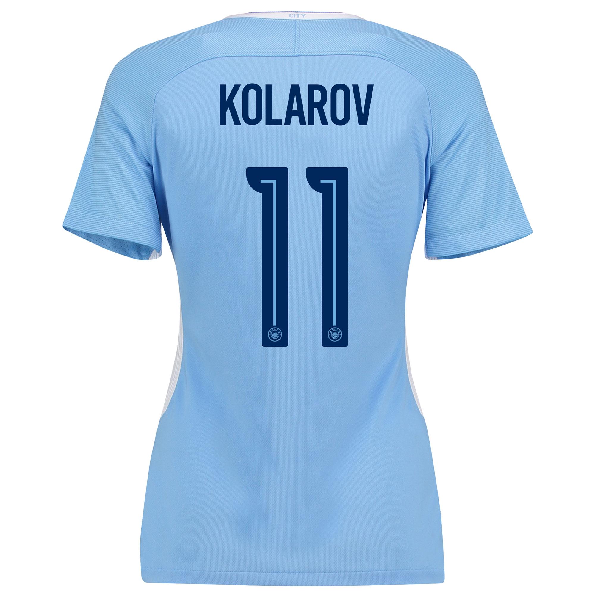 Manchester City Home Stadium Cup Shirt 2017-18 - Womens with Kolarov 1