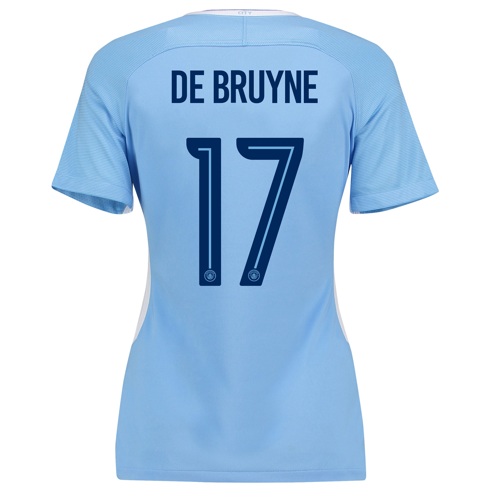 Manchester City Home Stadium Cup Shirt 2017-18 - Womens with De Bruyne