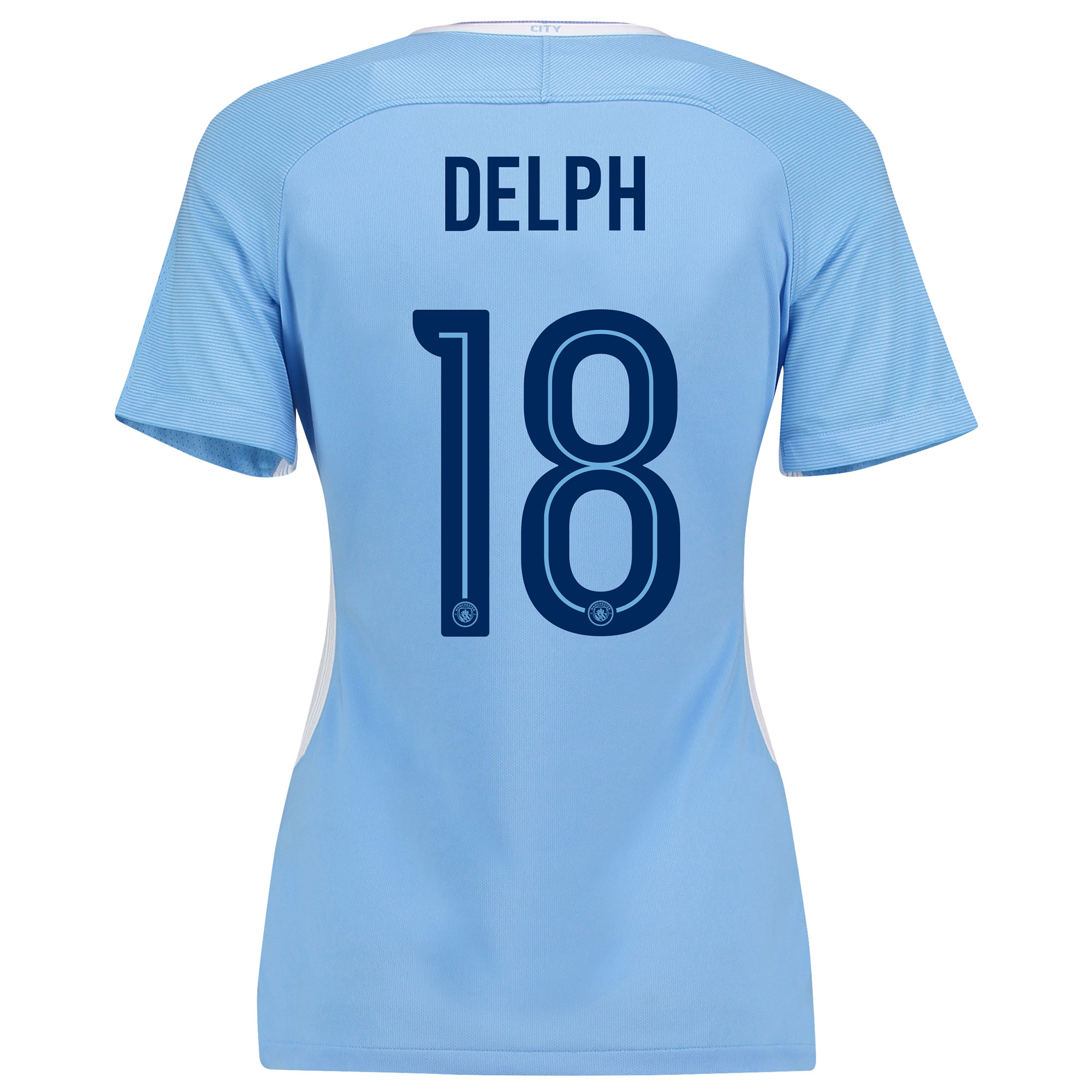 Manchester City Home Stadium Cup Shirt 2017-18 - Womens with Delph 18
