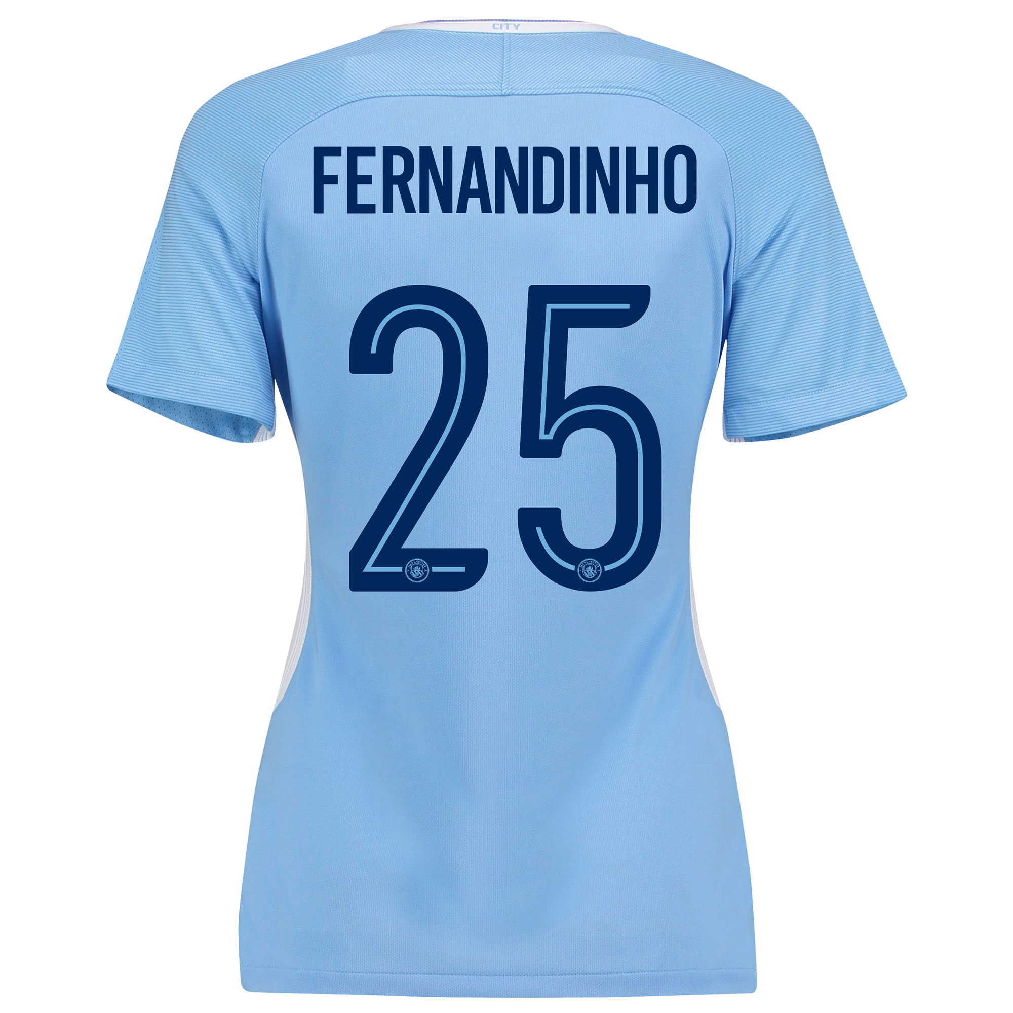 Manchester City Home Stadium Cup Shirt 2017-18 - Womens with Fernandin