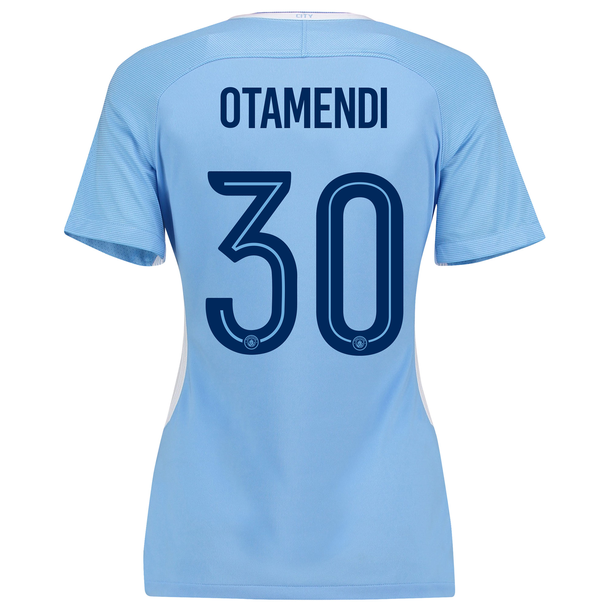 Manchester City Home Stadium Cup Shirt 2017-18 - Womens with Otamendi