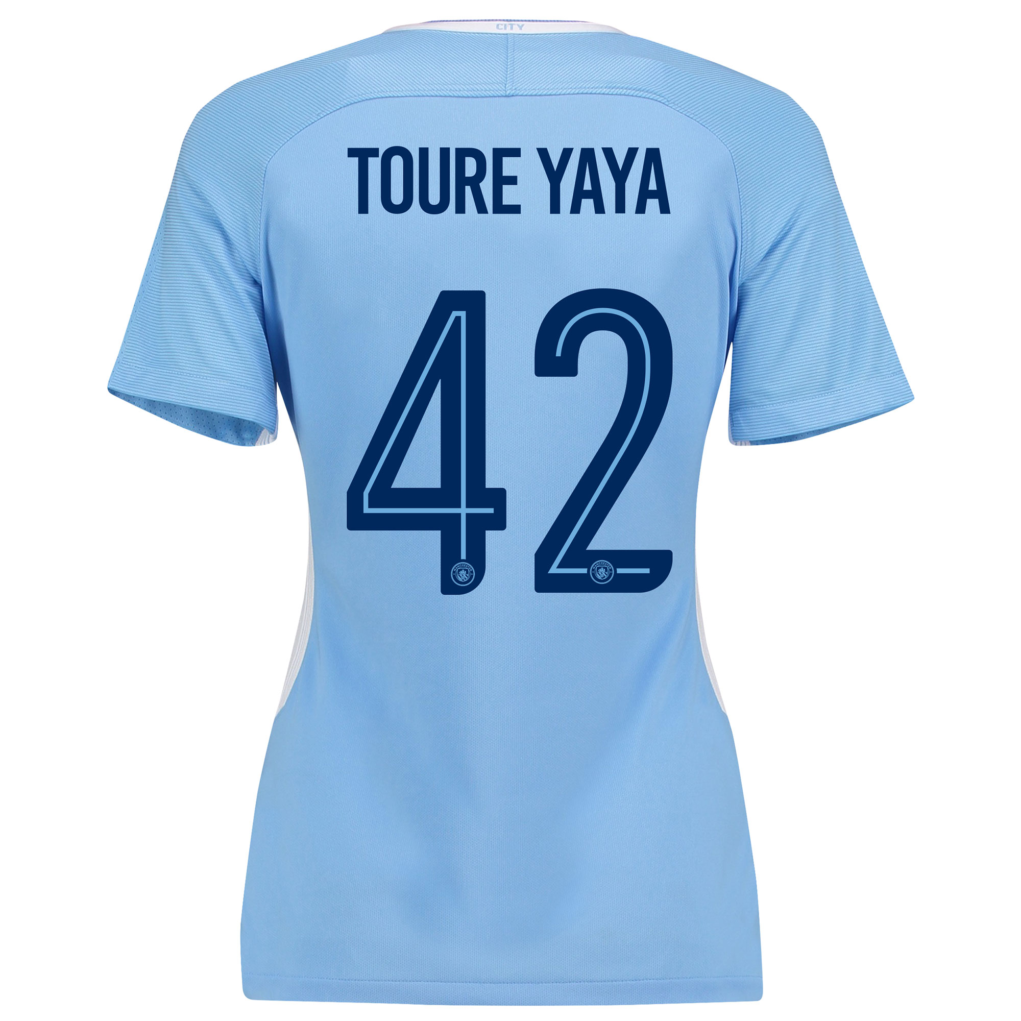 Manchester City Home Stadium Cup Shirt 2017-18 - Womens with Toure Yay