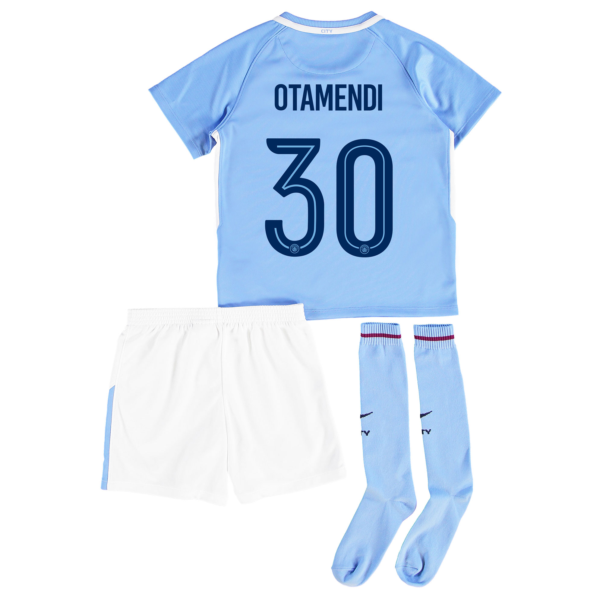 Manchester City Home Stadium Cup Kit 2017-18 - Little Kids with Otamen