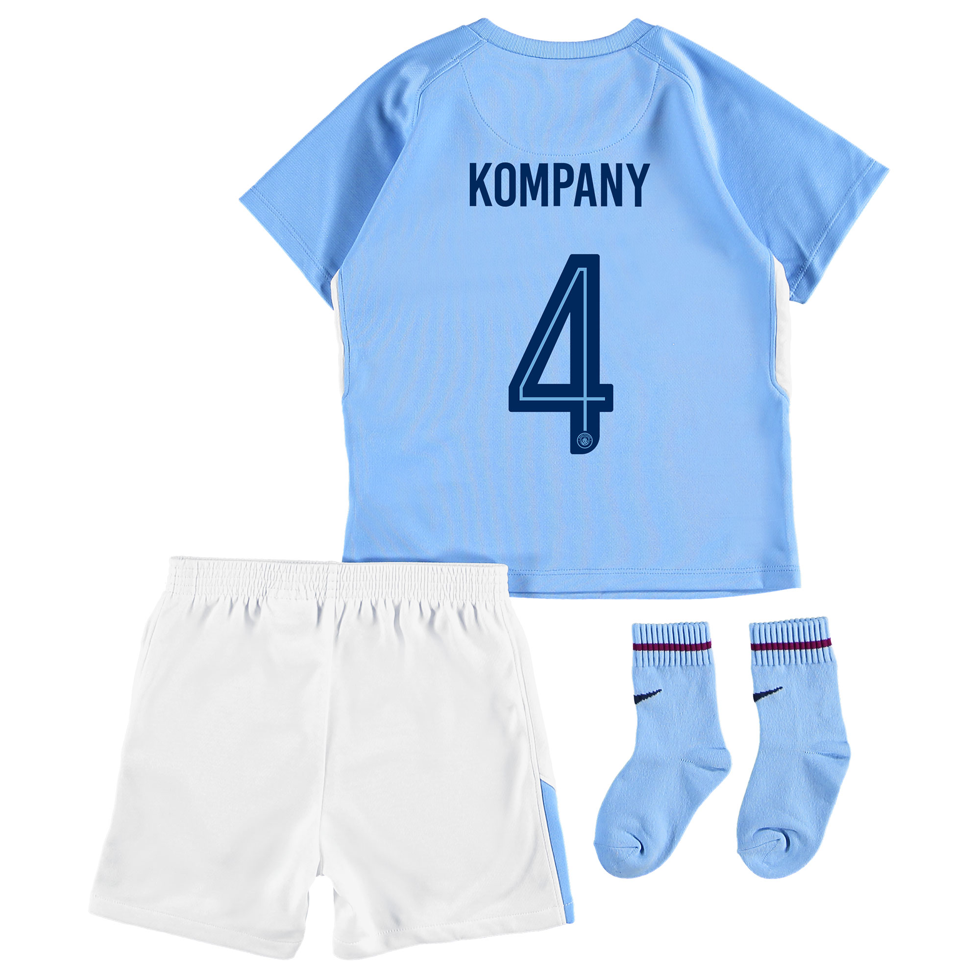 Manchester City Home Stadium Cup Kit 2017-18 - Infants with Kompany 4