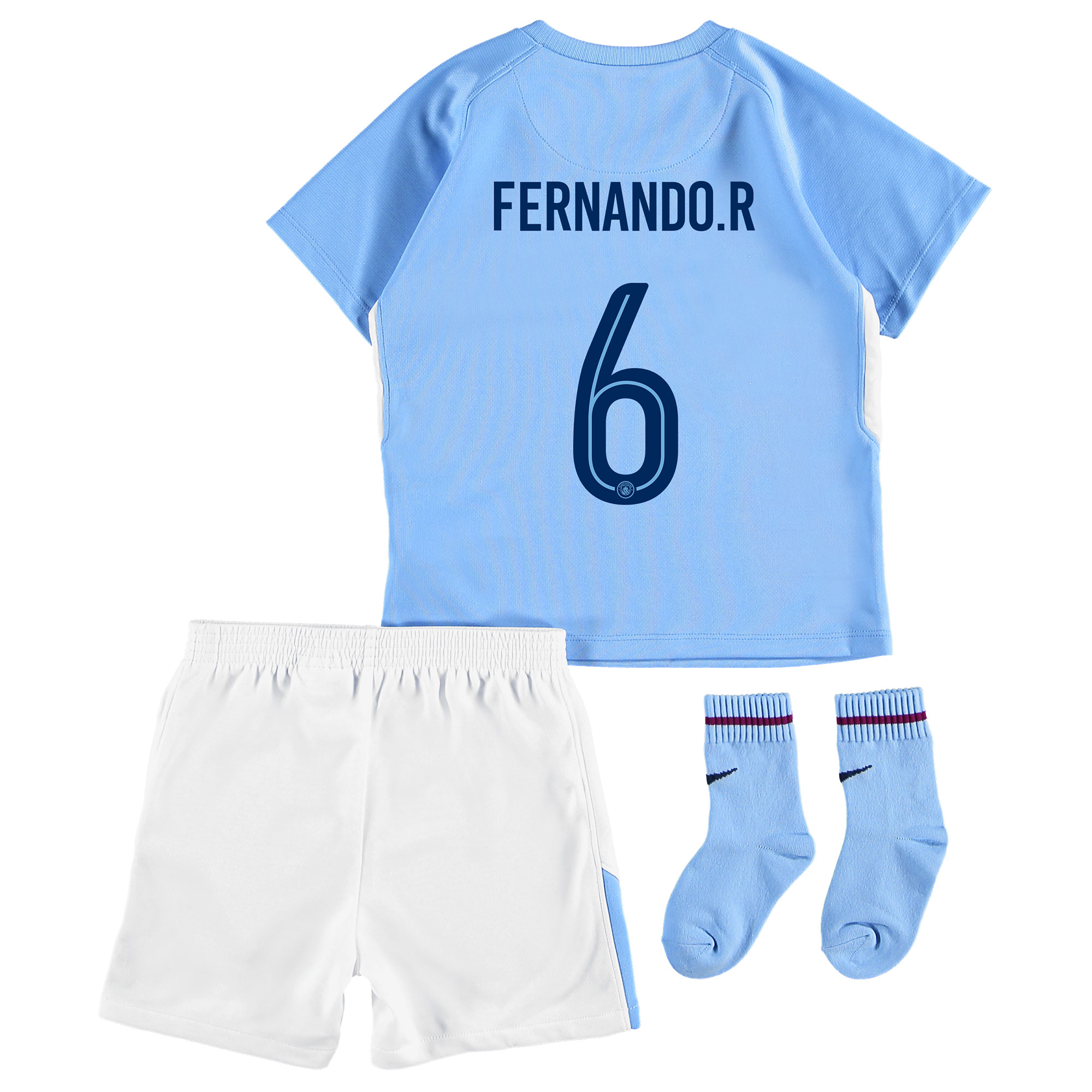 Manchester City Home Stadium Cup Kit 2017-18 - Infants with Fernando.