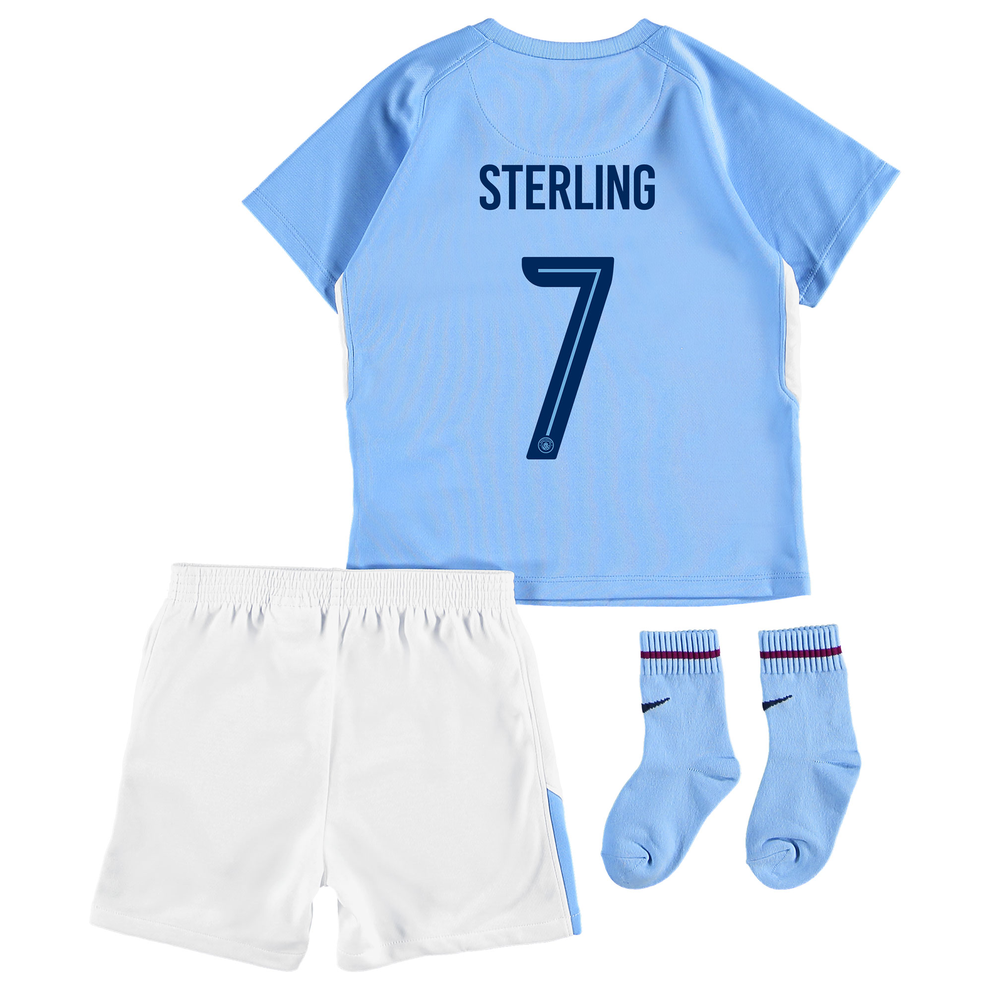 Manchester City Home Stadium Cup Kit 2017-18 - Infants with Sterling 7