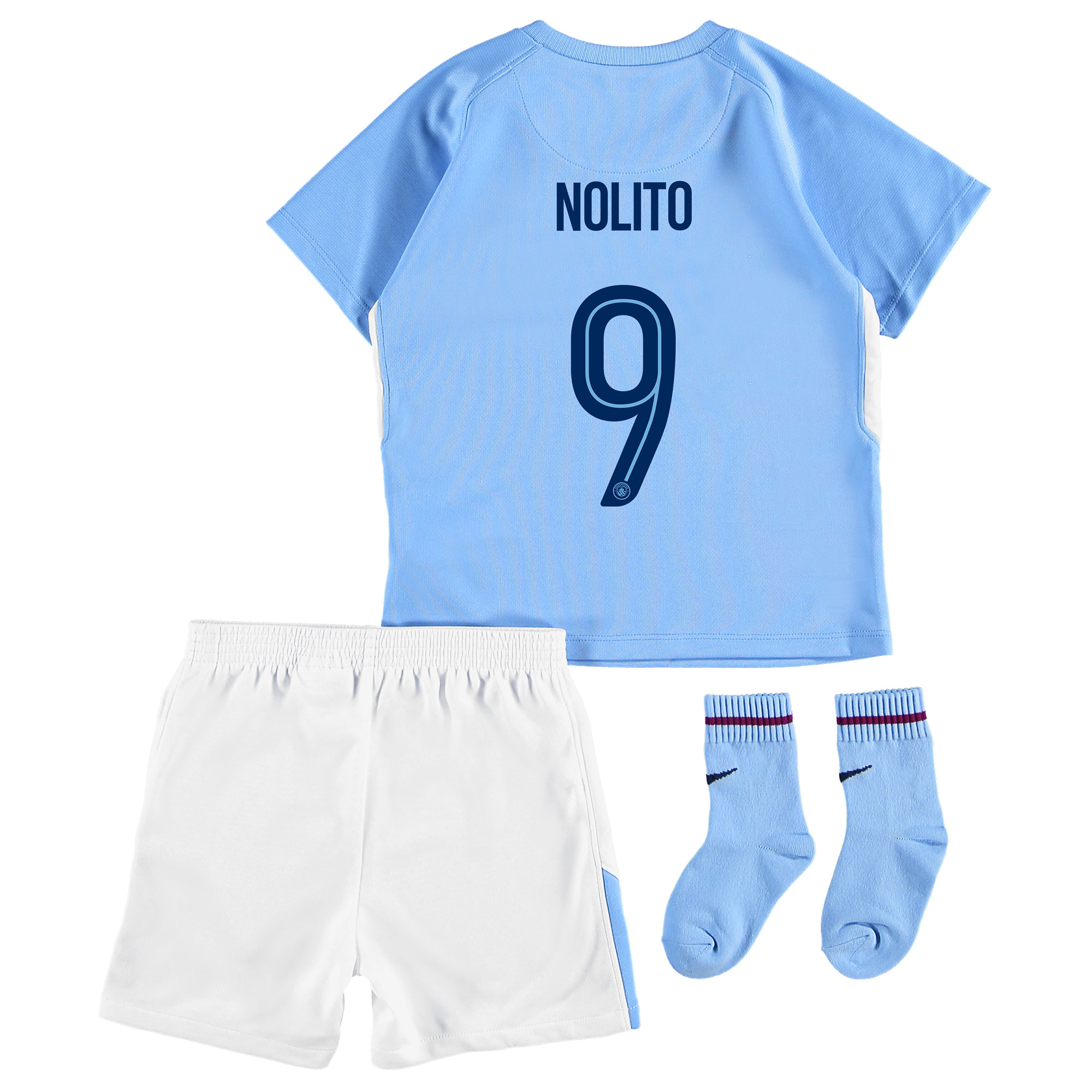 Manchester City Home Stadium Cup Kit 2017-18 - Infants with Nolito 9 p