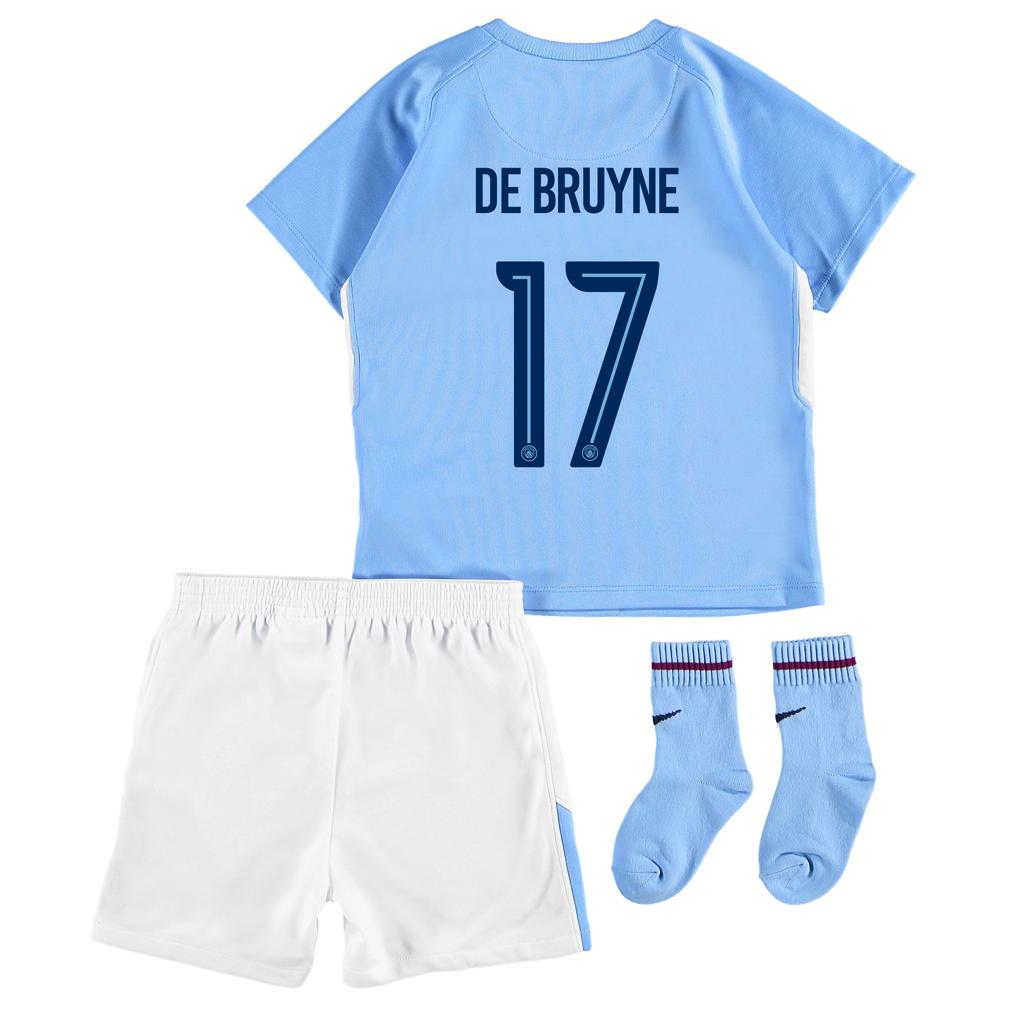 Manchester City Home Stadium Cup Kit 2017-18 - Infants with De Bruyne