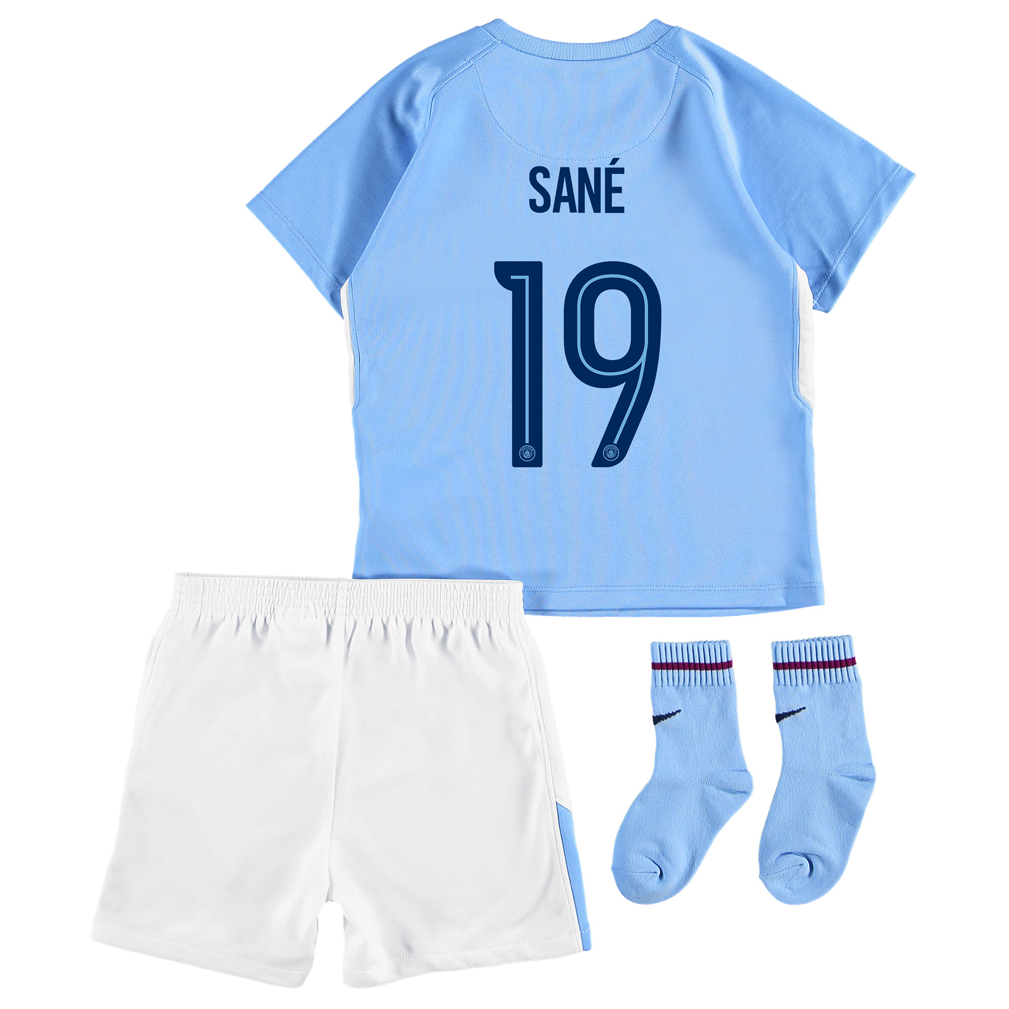 Manchester City Home Stadium Cup Kit 2017-18 - Infants with San?® 19 pr