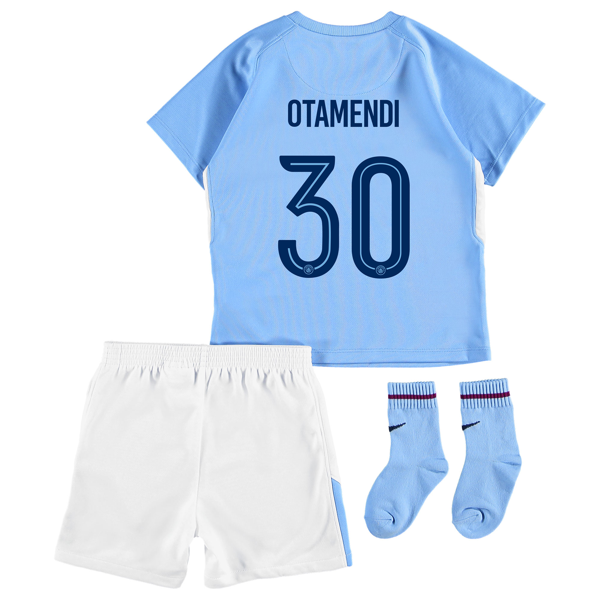 Manchester City Home Stadium Cup Kit 2017-18 - Infants with Otamendi 3