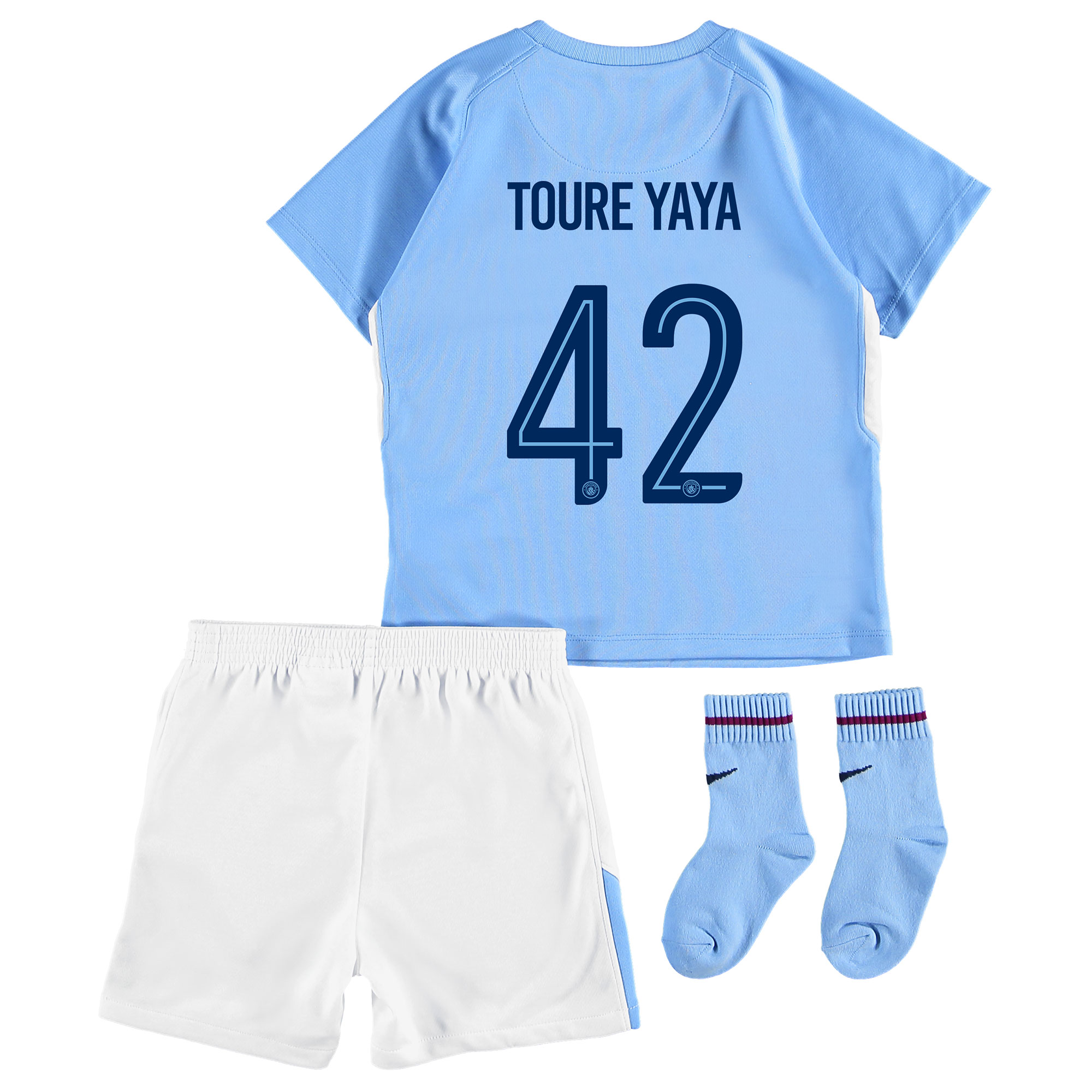 Manchester City Home Stadium Cup Kit 2017-18 - Infants with Toure Yaya