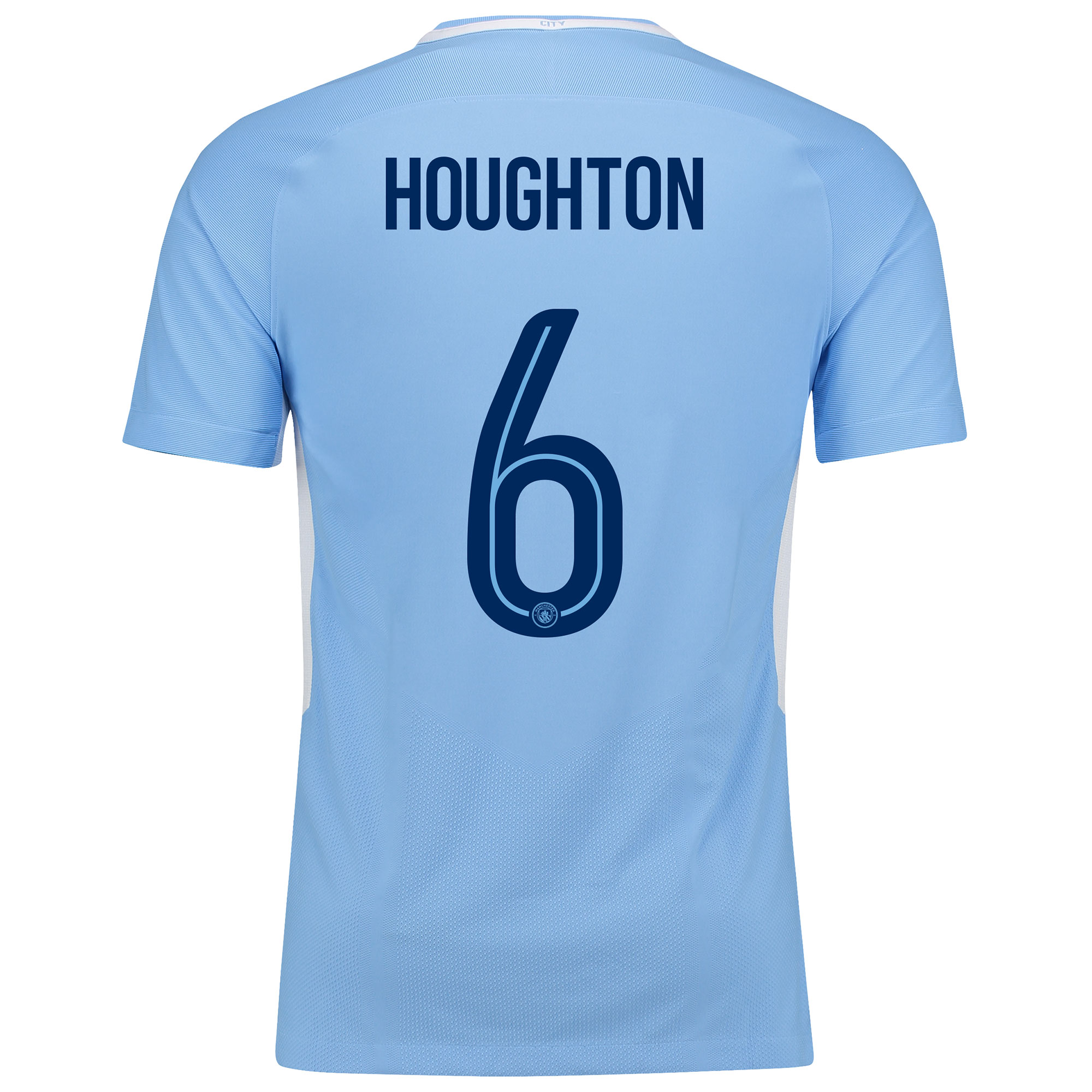 Manchester City Home Vapor Match Cup Shirt 2017-18 with Houghton 6 pri
