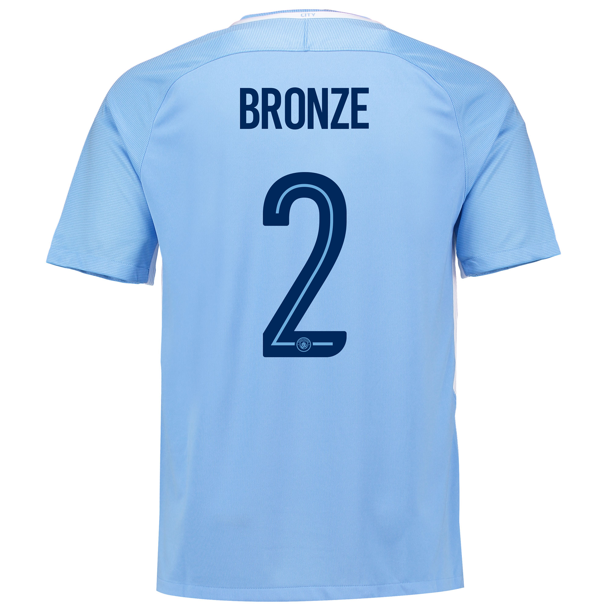 Manchester City Home Stadium Cup Shirt 2017-18 with Bronze 2 printing