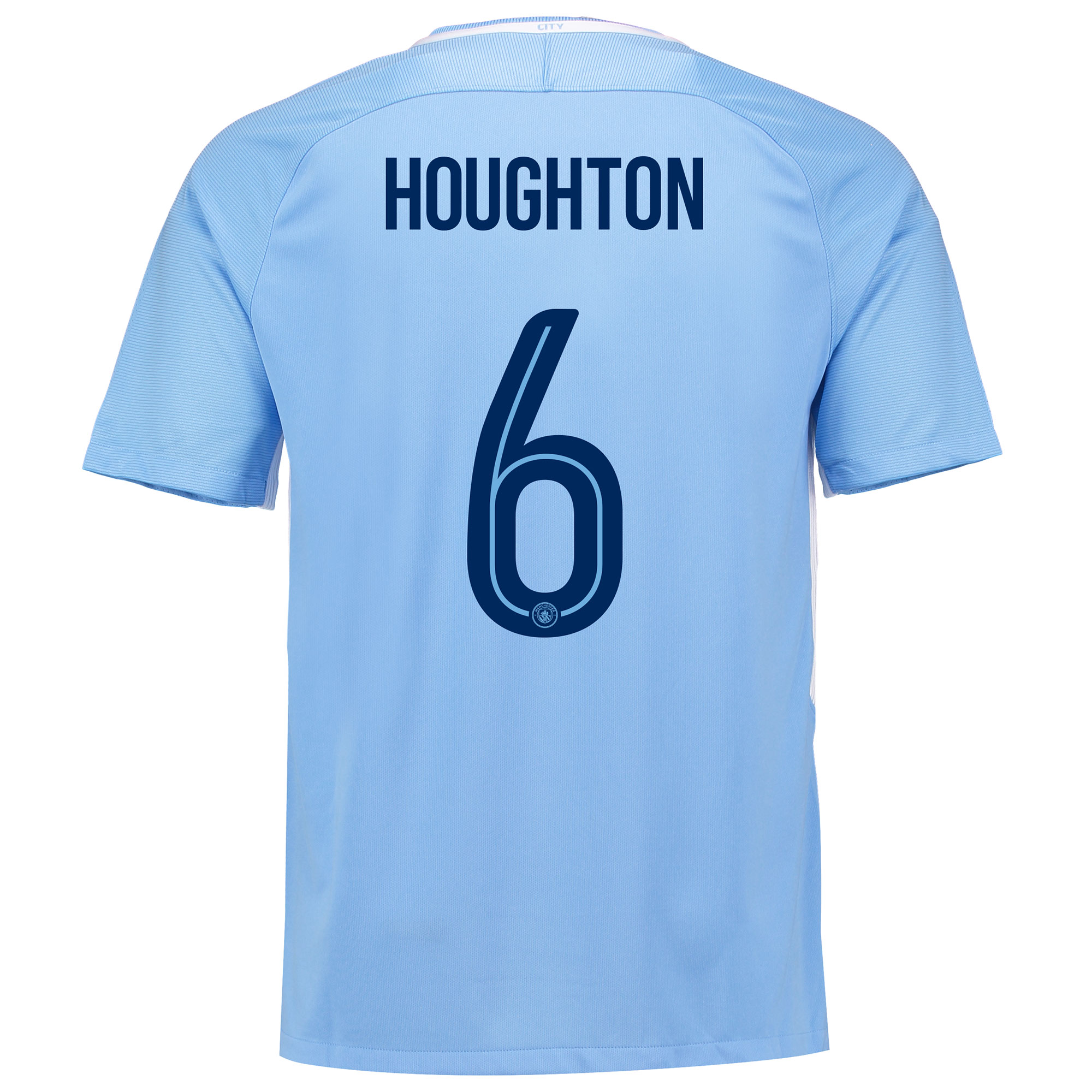 Manchester City Home Stadium Cup Shirt 2017-18 with Houghton 6 printin