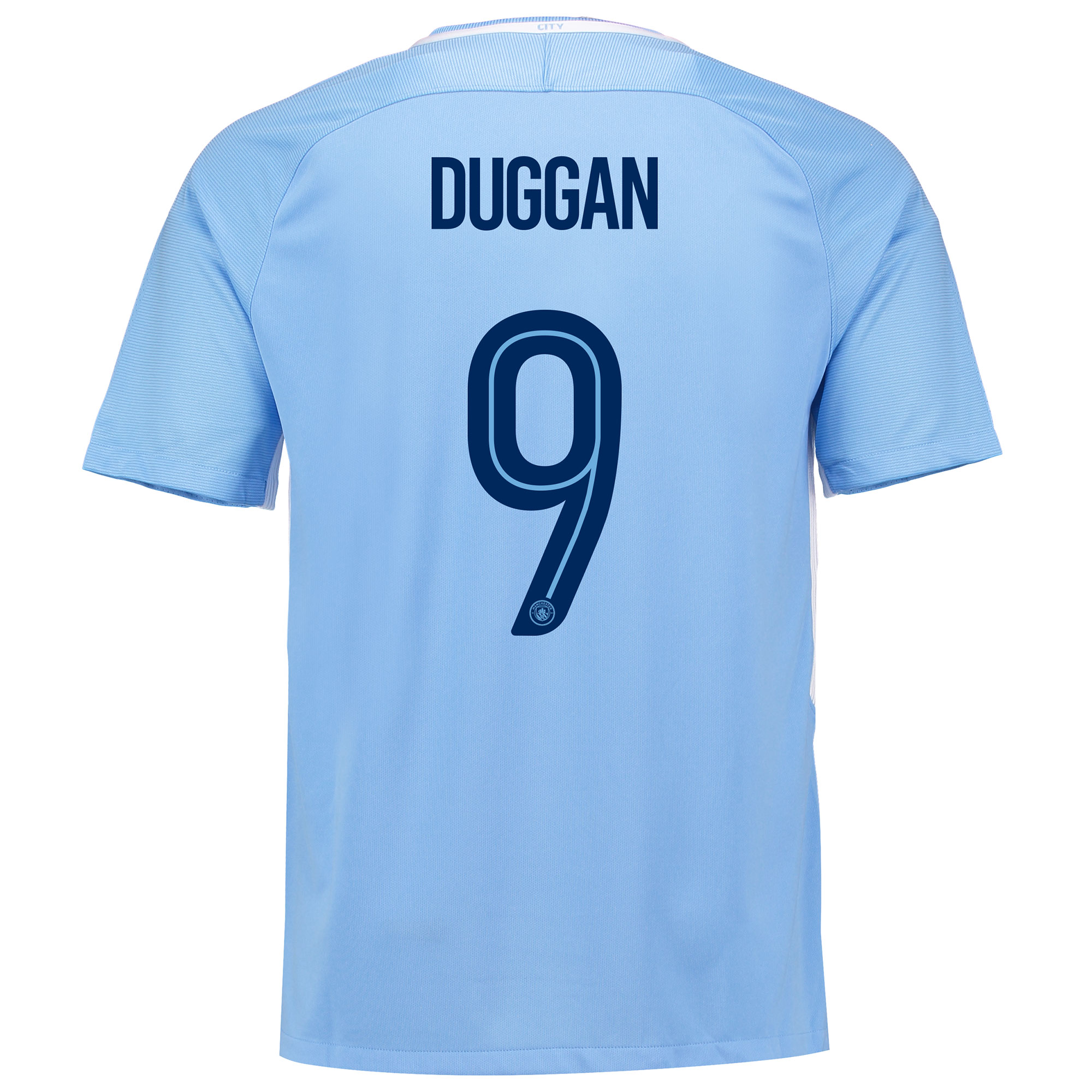 Manchester City Home Stadium Cup Shirt 2017-18 with Duggan 9 printing