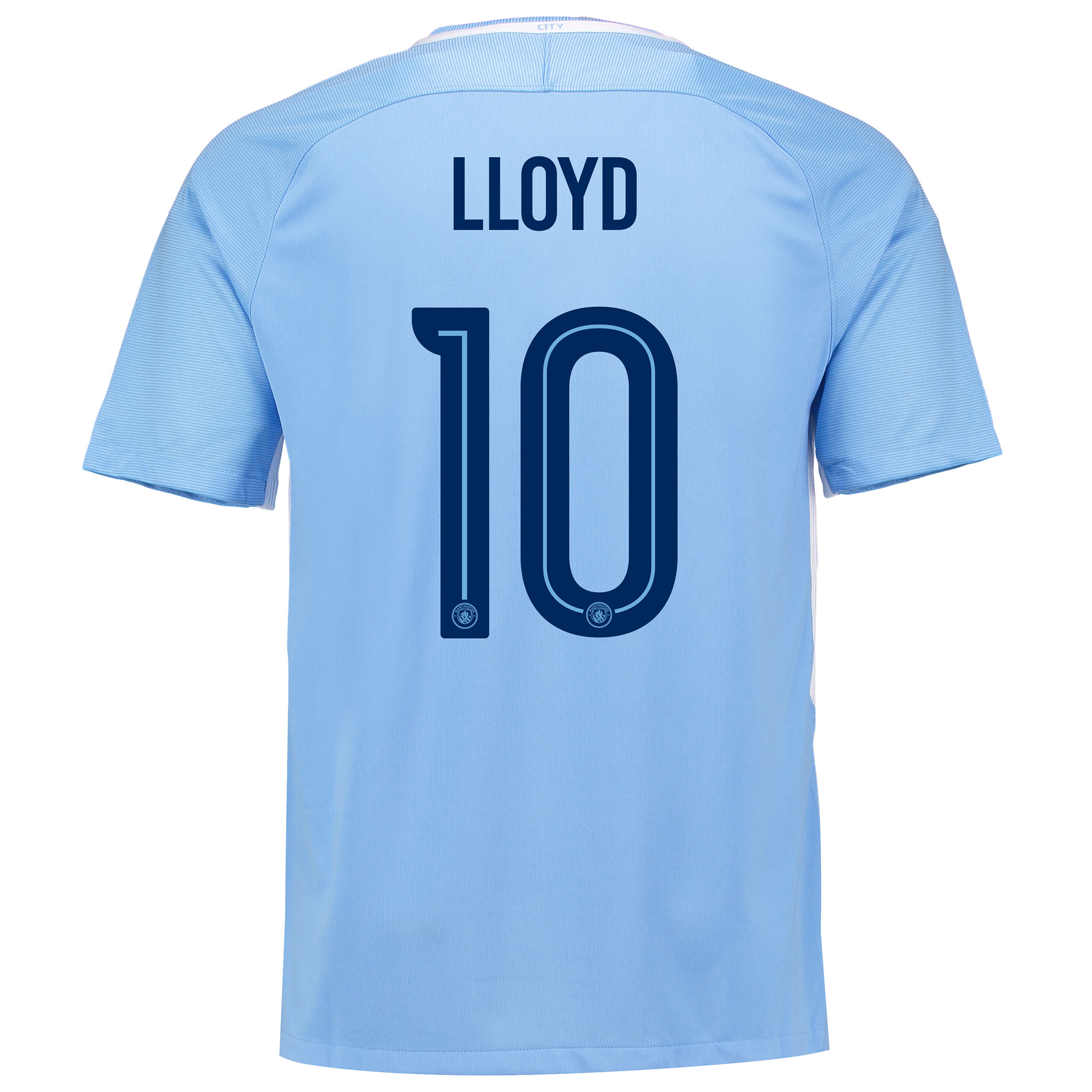 Manchester City Home Stadium Cup Shirt 2017-18 with Lloyd 10 printing