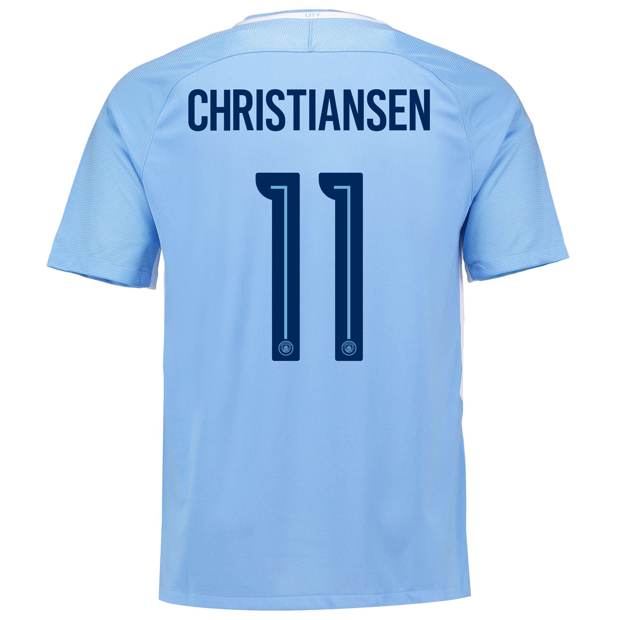Manchester City Home Stadium Cup Shirt 2017-18 with Christiansen 11 pr