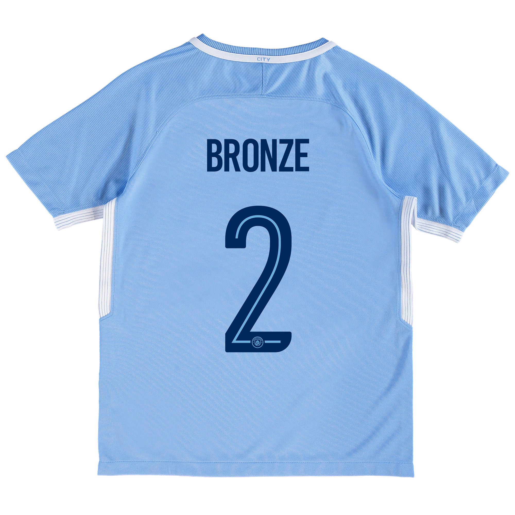 Manchester City Home Stadium Cup Shirt 2017-18 - Kids with Bronze 2 pr