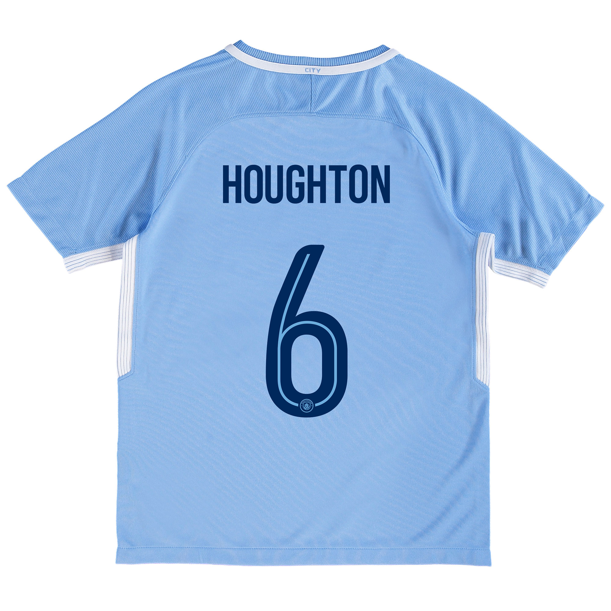 Manchester City Home Stadium Cup Shirt 2017-18 - Kids with Houghton 6