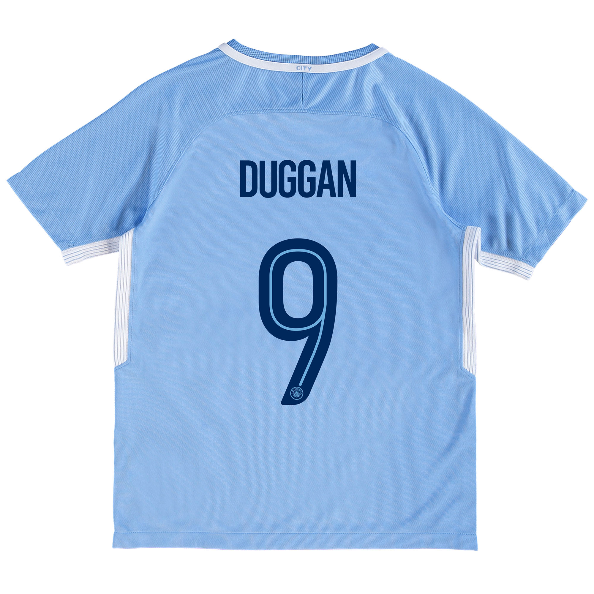 Manchester City Home Stadium Cup Shirt 2017-18 - Kids with Duggan 9 pr