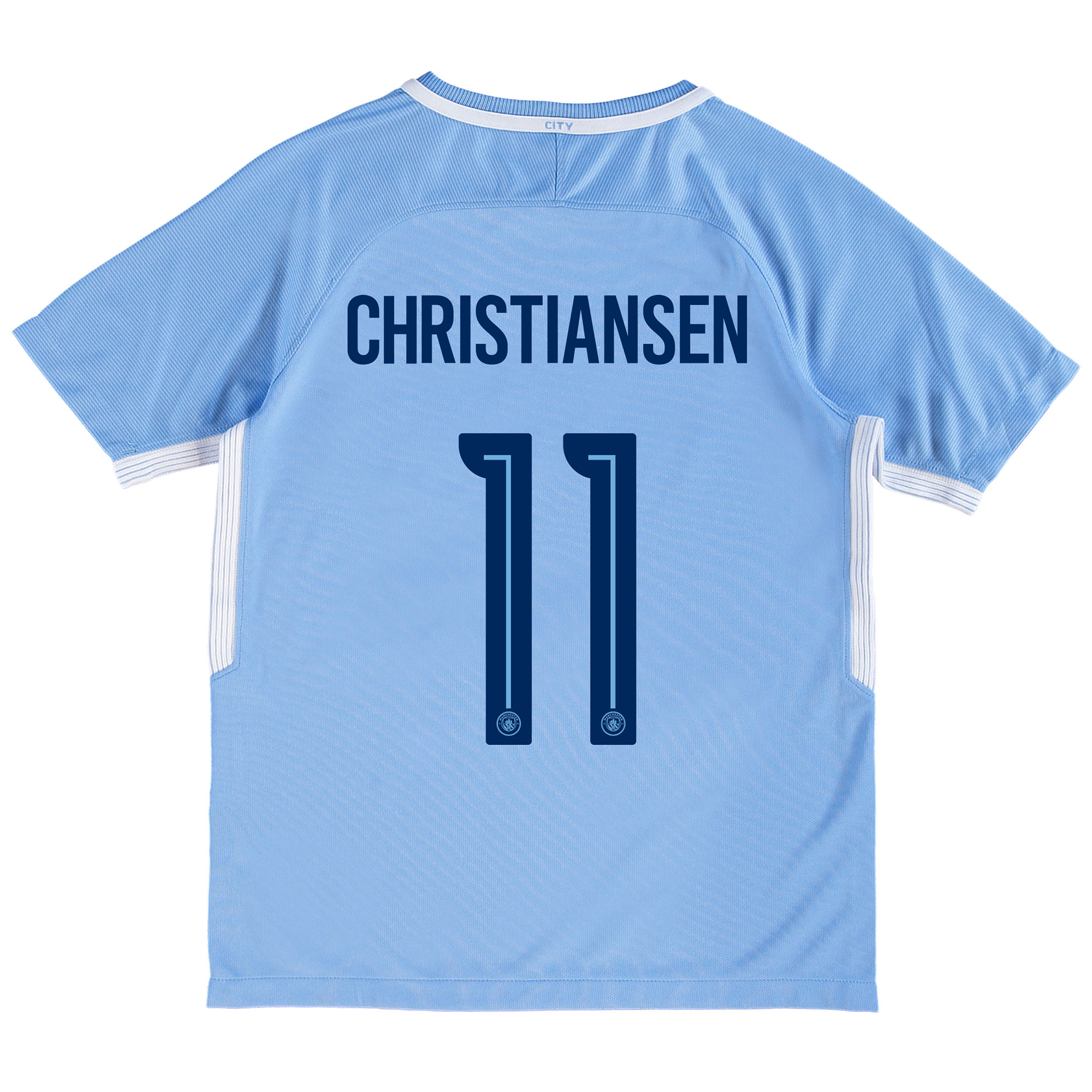 Manchester City Home Stadium Cup Shirt 2017-18 - Kids with Christianse