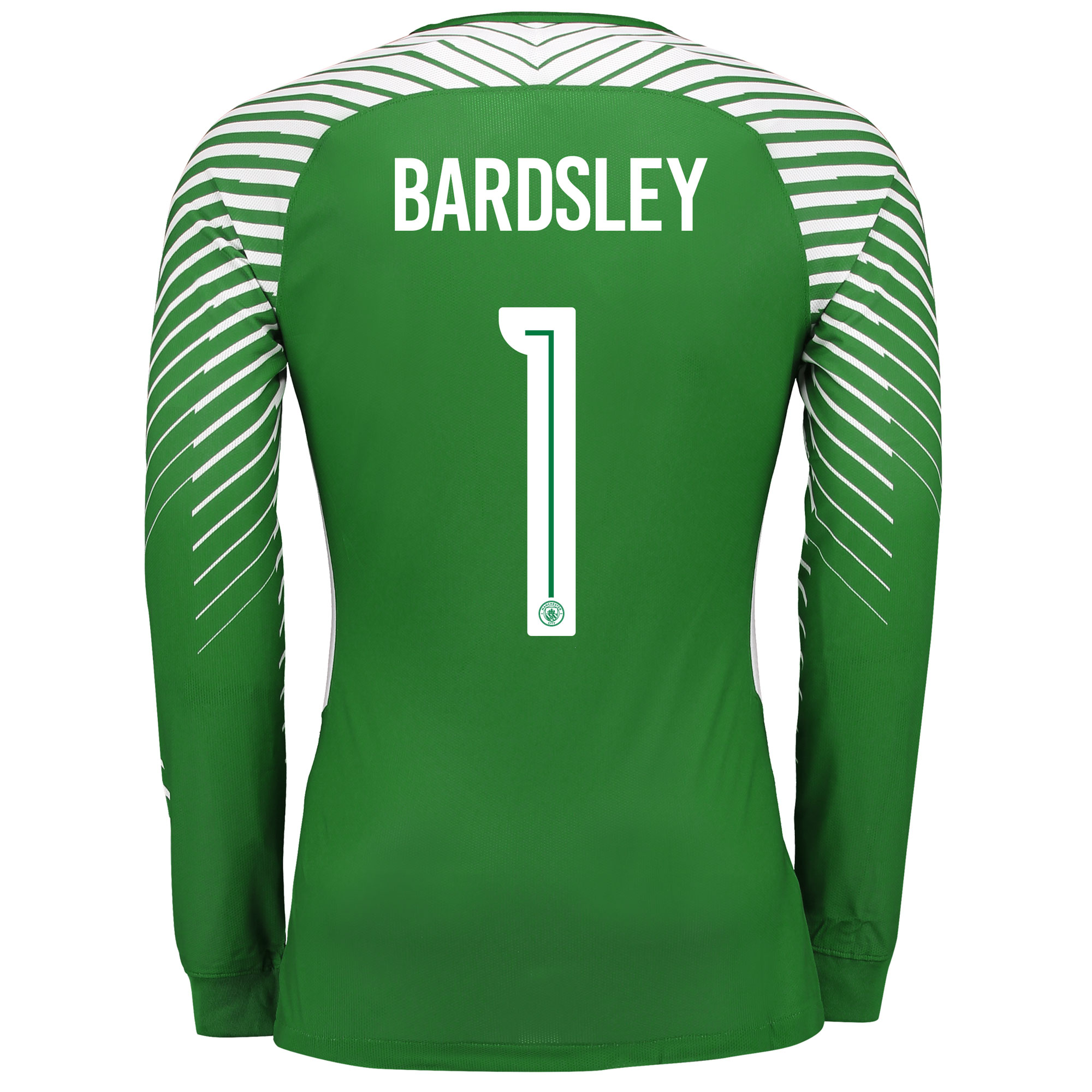 Manchester City Goalkeeper Cup Shirt 17-18 - Kids with Bardsley 1 prin