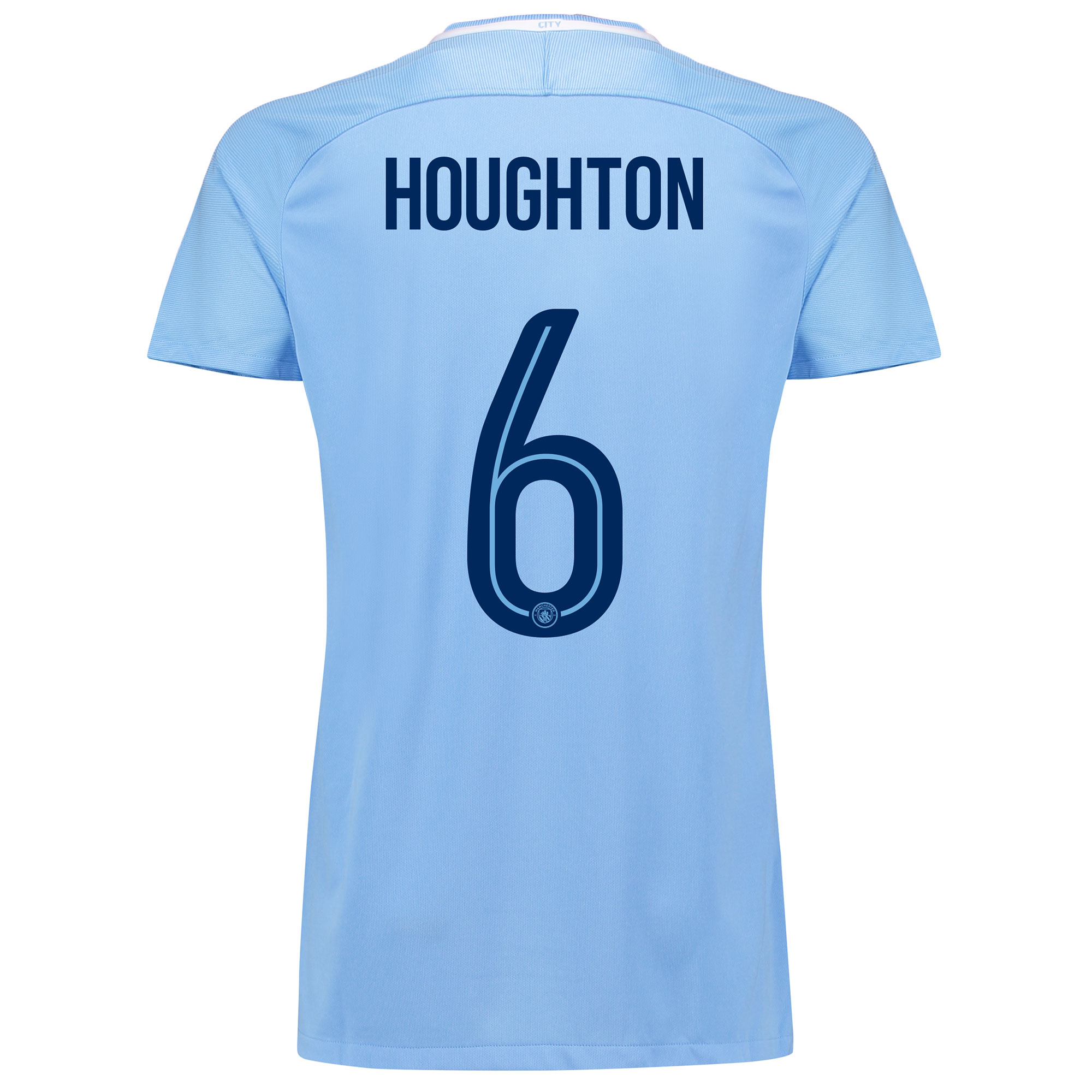 Manchester City Home Stadium Cup Shirt 2017-18 - Womens with Houghton