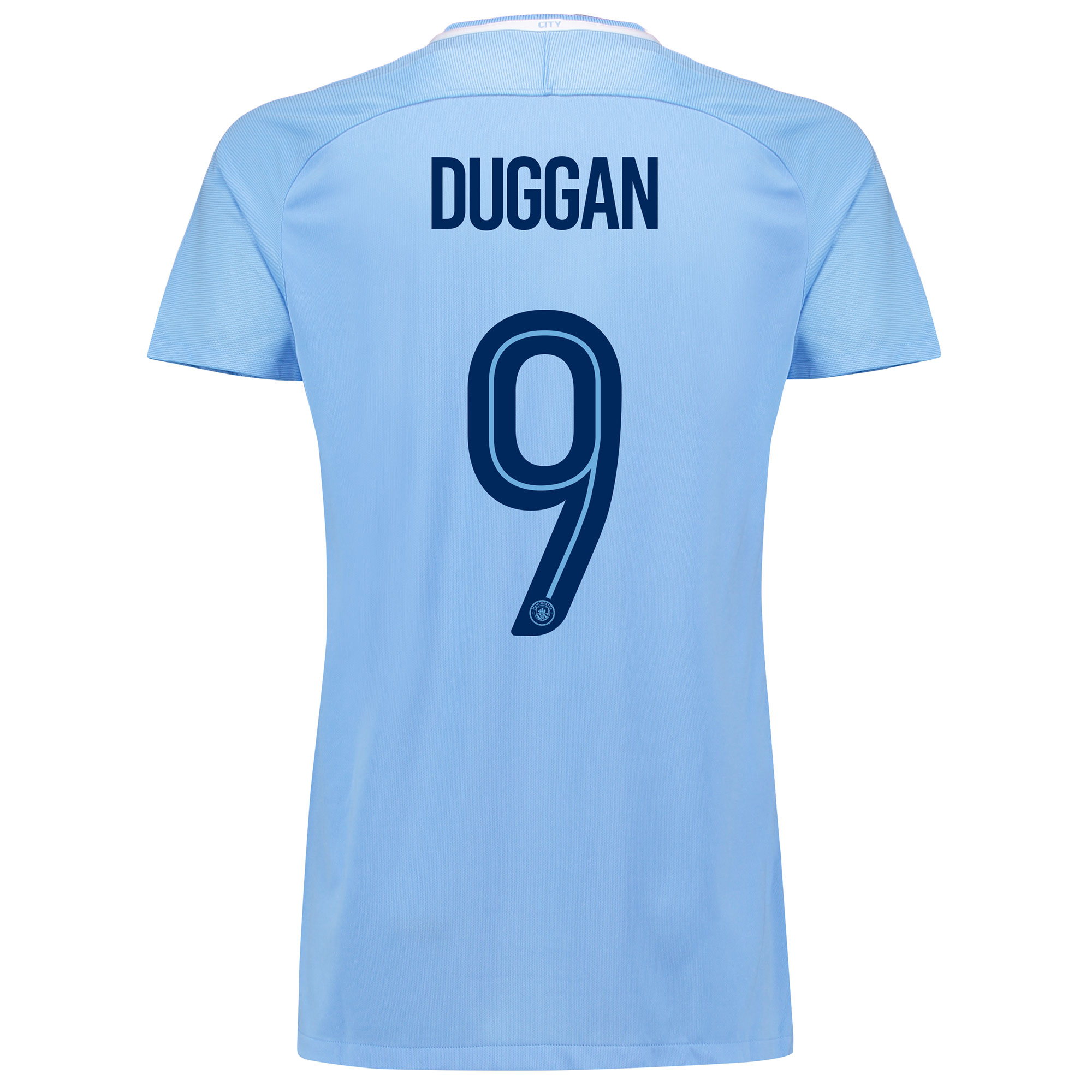 Manchester City Home Stadium Cup Shirt 2017-18 - Womens with Duggan 9