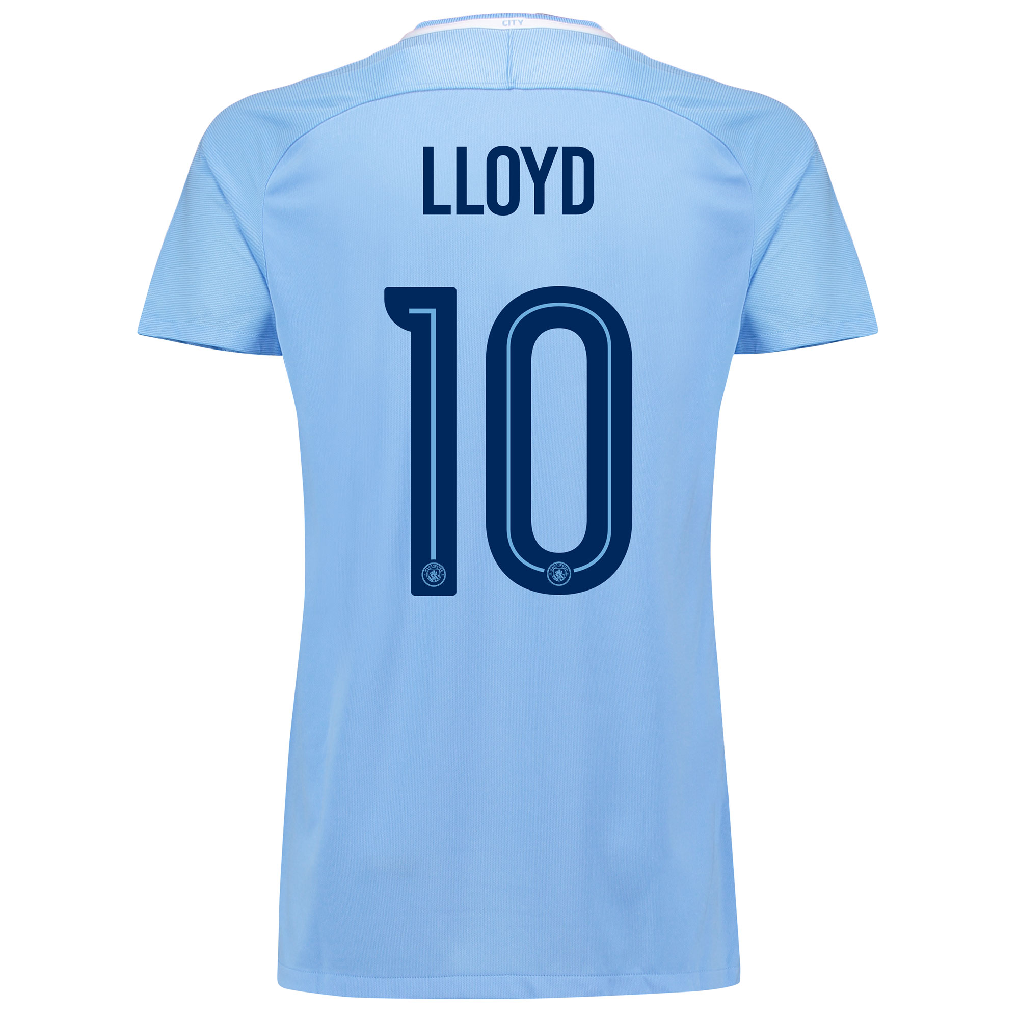 Manchester City Home Stadium Cup Shirt 2017-18 - Womens with Lloyd 10